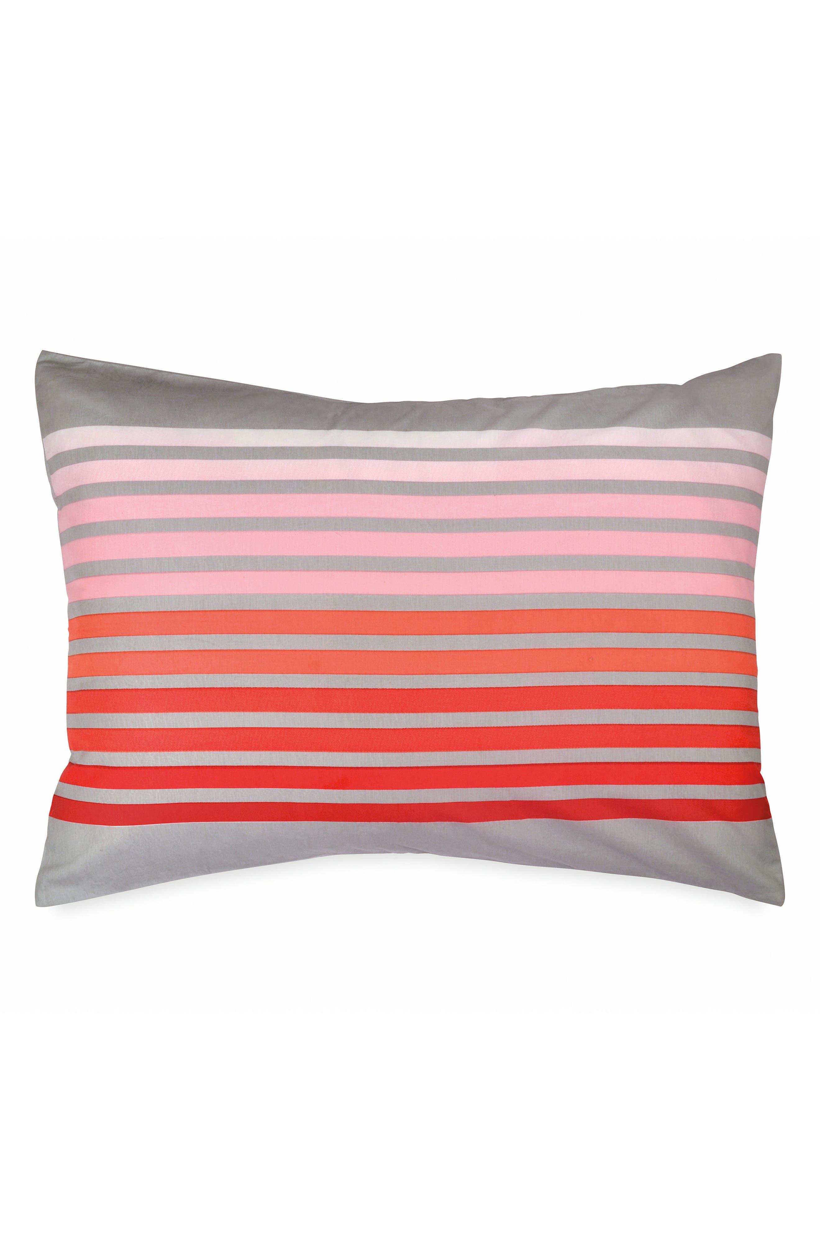 Sunset Stripe Duvet Cover & Sham Set,                             Alternate thumbnail 3, color,                             020
