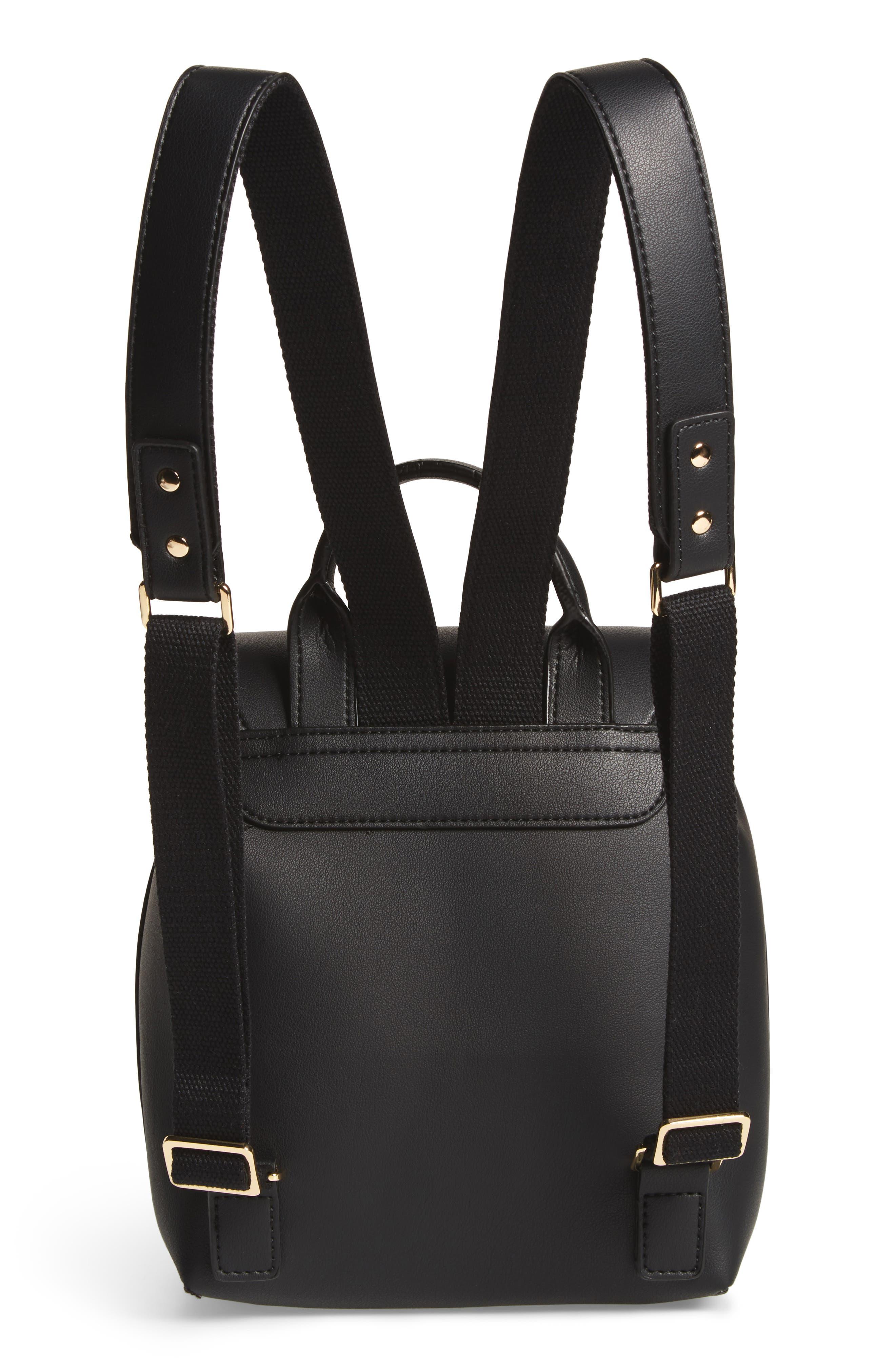 Blake Mini Faux Leather Backpack,                             Alternate thumbnail 5, color,