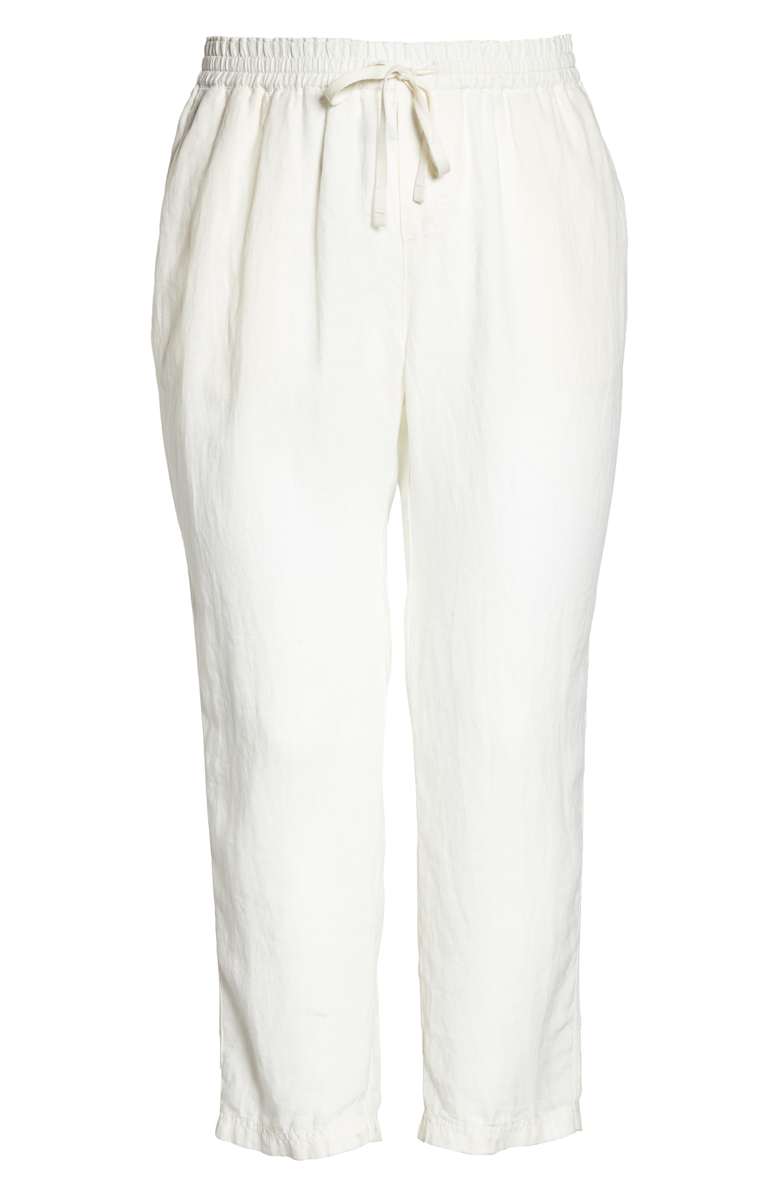 Linen Drawstring Pants,                             Alternate thumbnail 7, color,                             900
