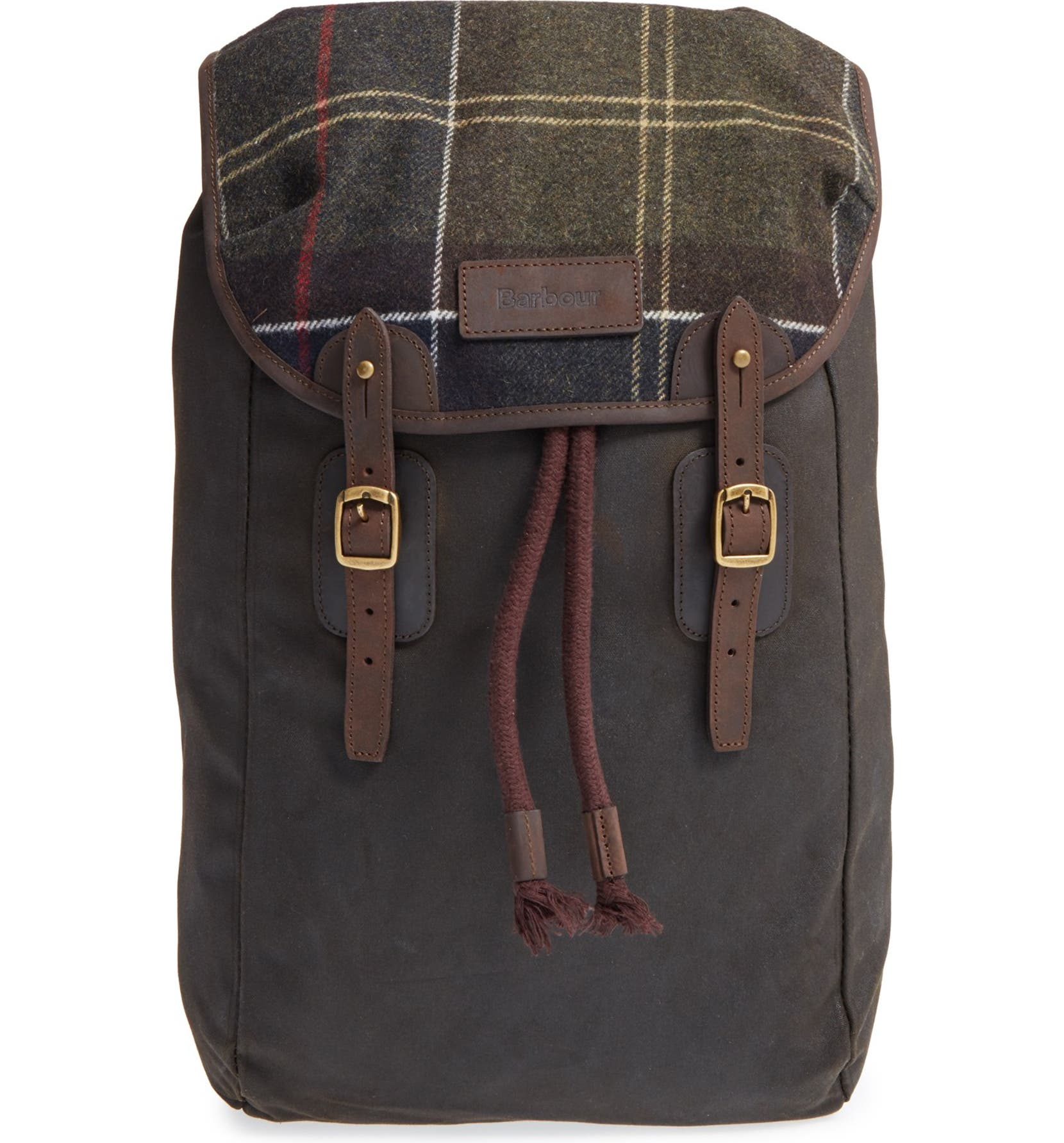 Barbour Waxed Leather And Canvas Backpack- Fenix Toulouse Handball ac27a5651dec7