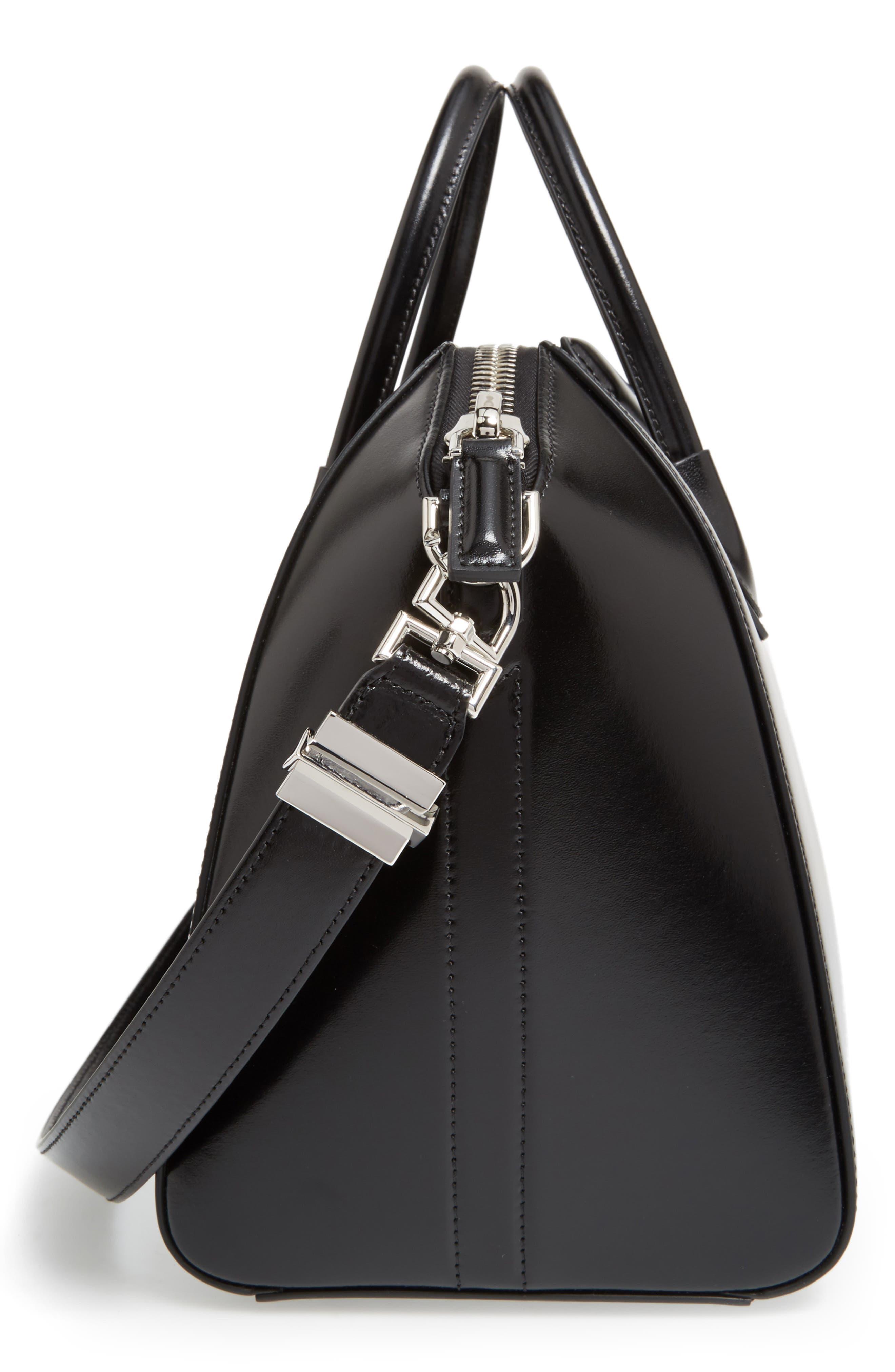 Medium Antigona Box Leather Satchel,                             Alternate thumbnail 5, color,                             001