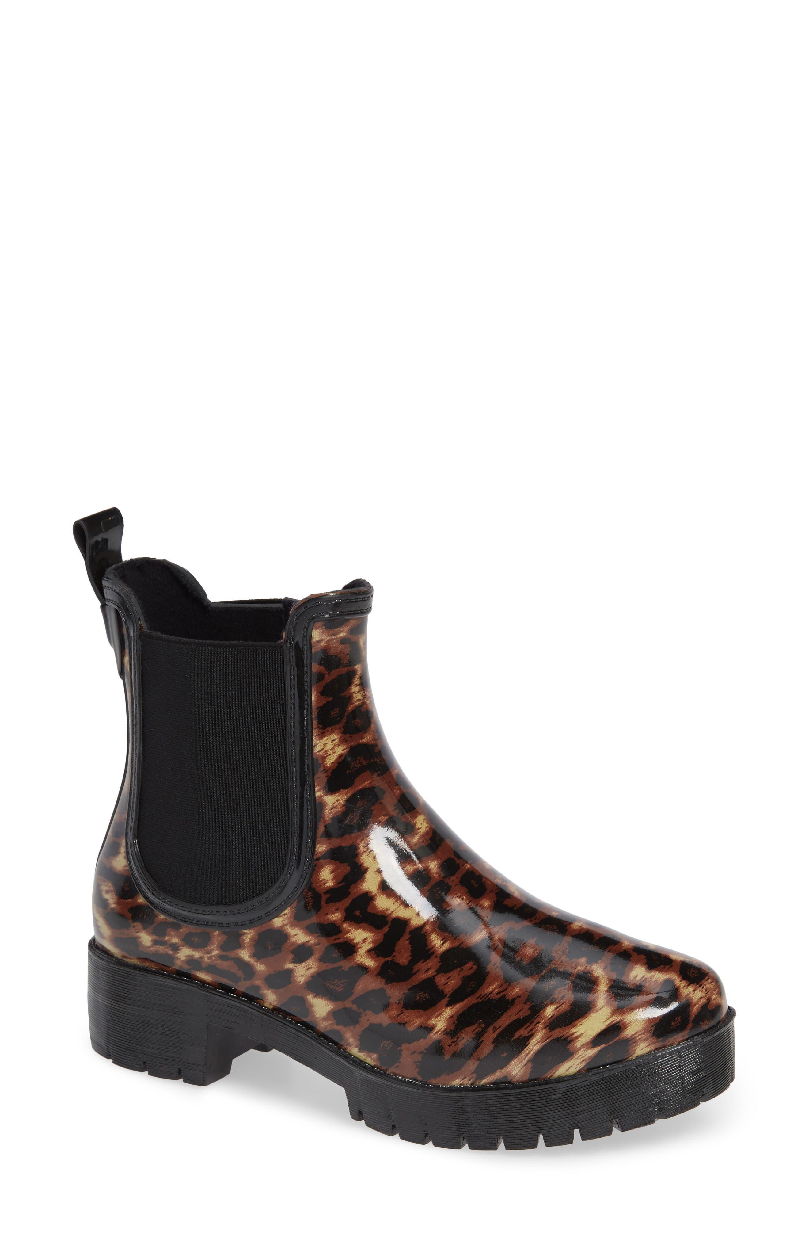 JEFFREY CAMPBELL Cloudy Chelsea Rain Boot, Main, color, 200