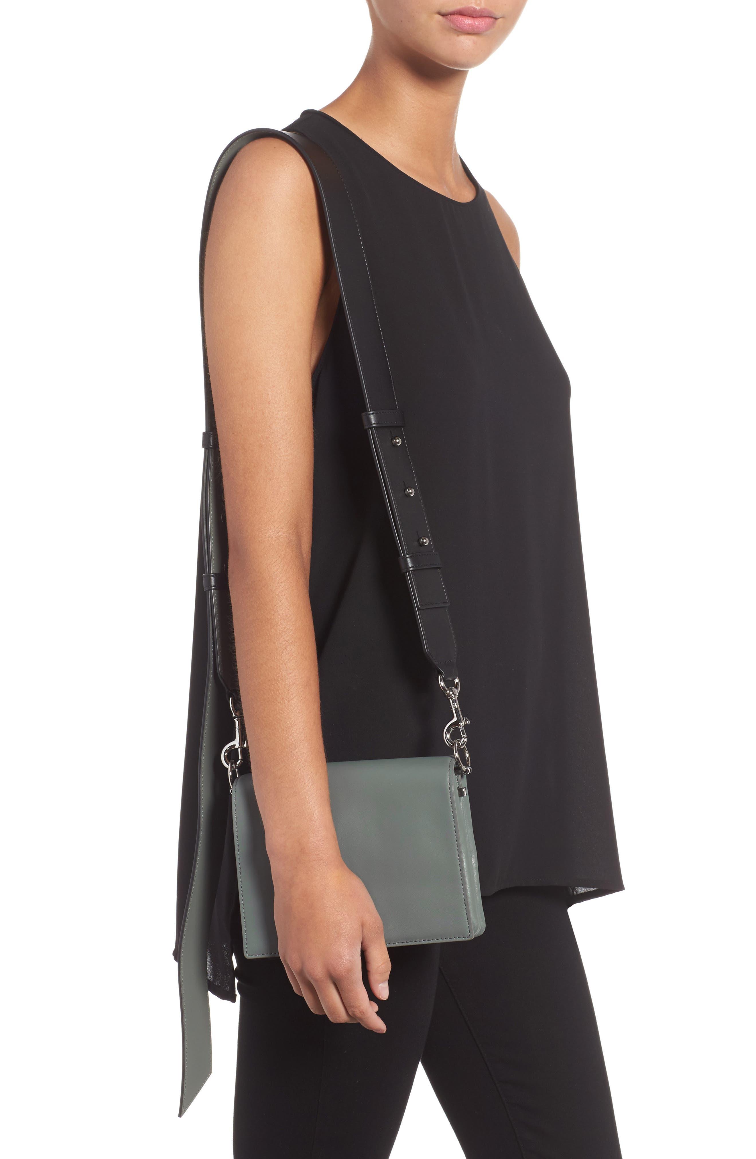 Zep Lambskin Leather Shoulder Bag,                             Alternate thumbnail 4, color,