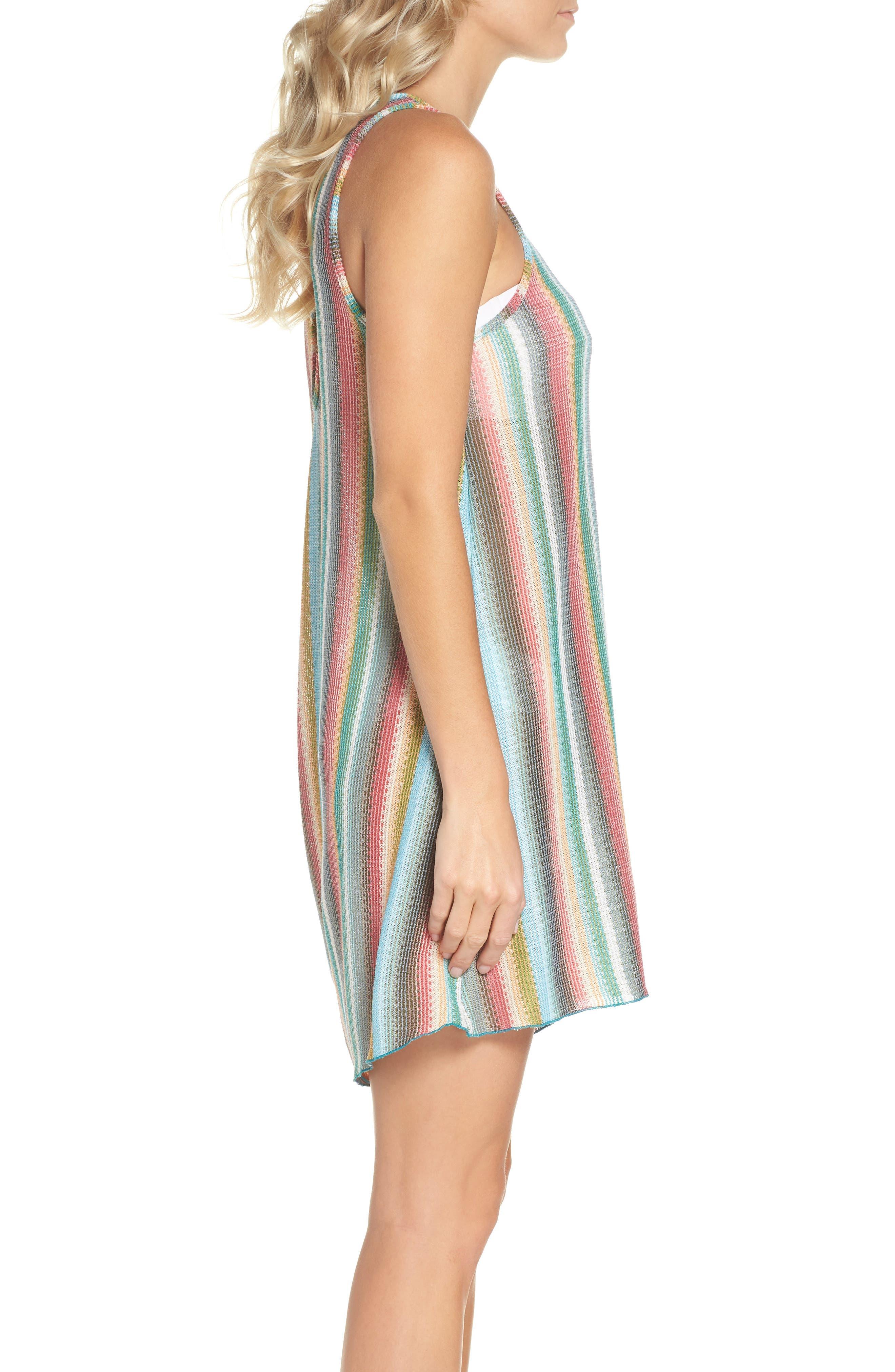 Seville Stripe Cover-Up Dress,                             Alternate thumbnail 3, color,                             800