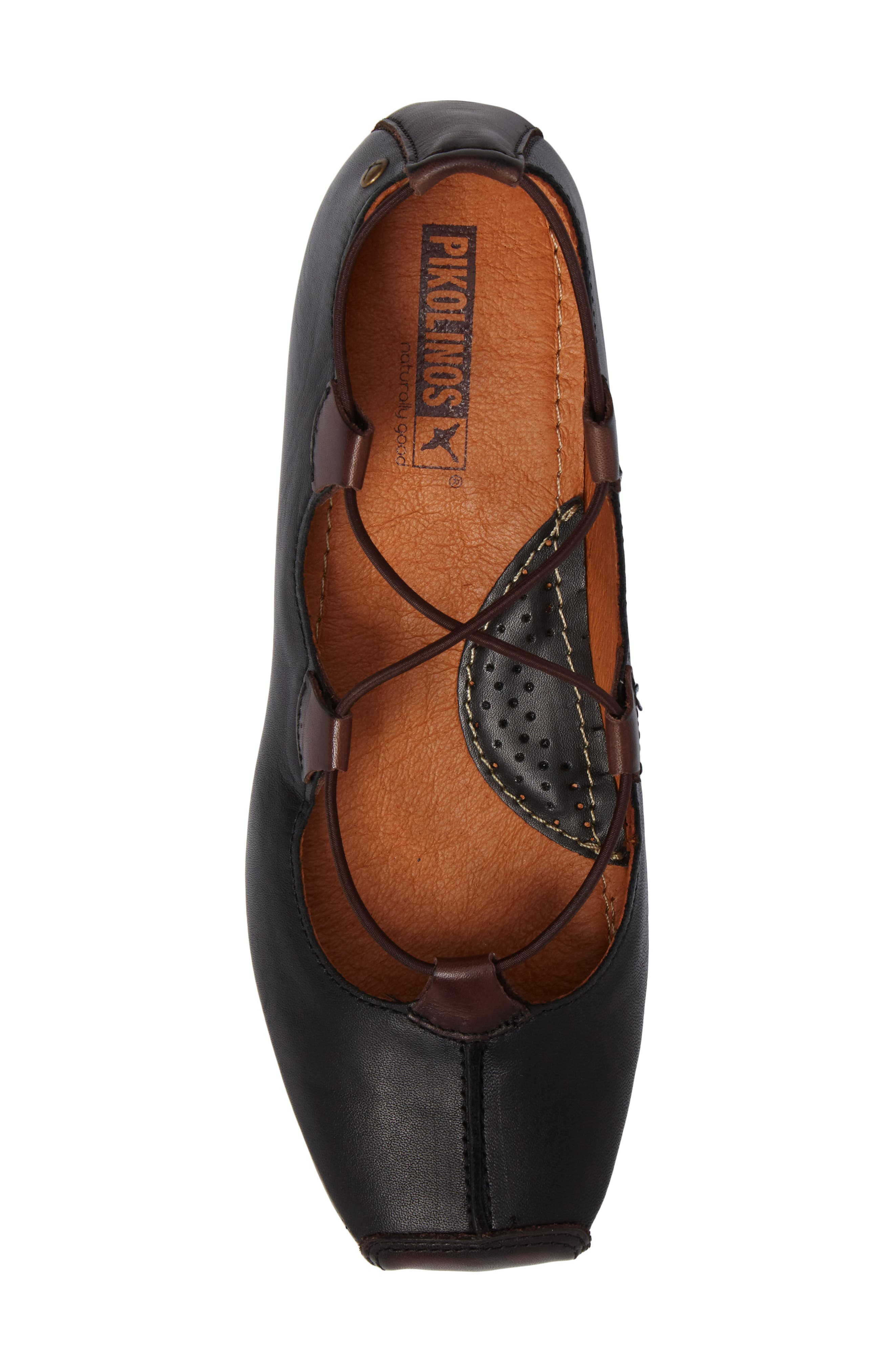 Gandia Lace-Up Pump,                             Alternate thumbnail 5, color,                             BLACK OLMO LEATHER
