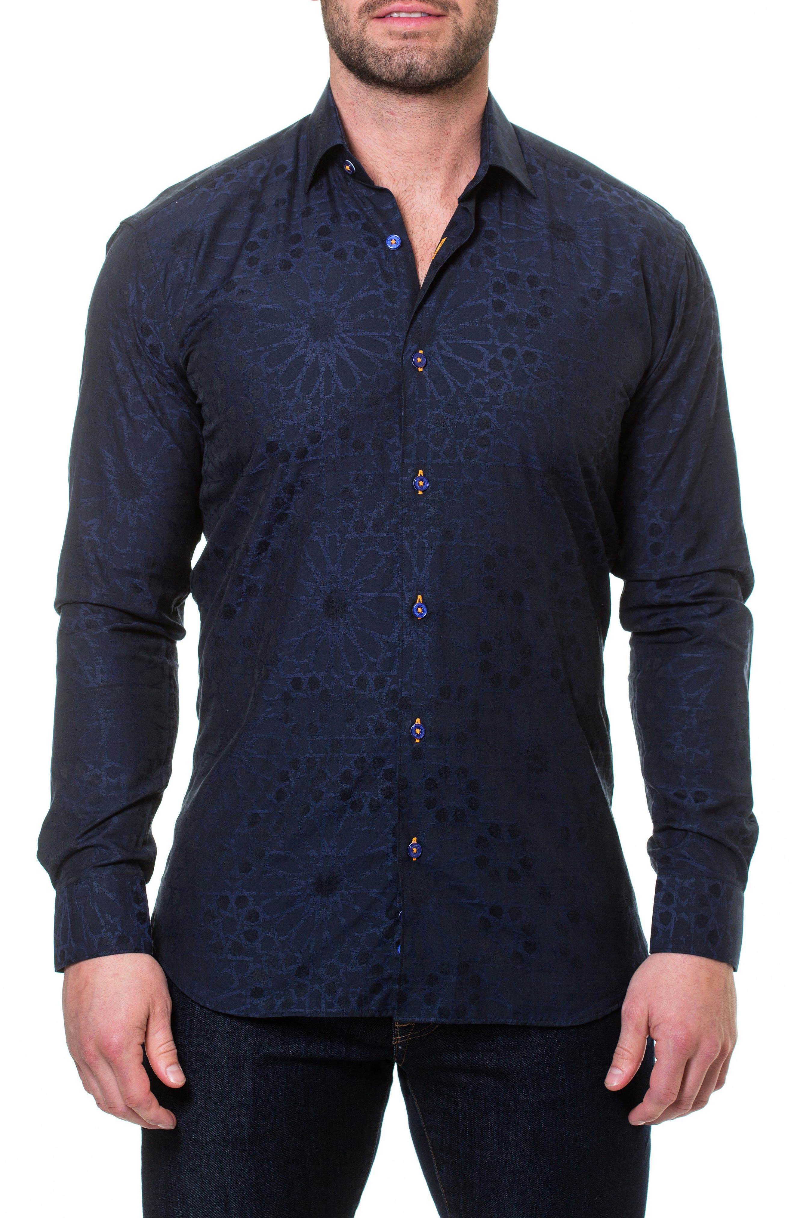 Wall Street Starboy Blue Slim Fit Sport Shirt,                             Main thumbnail 1, color,