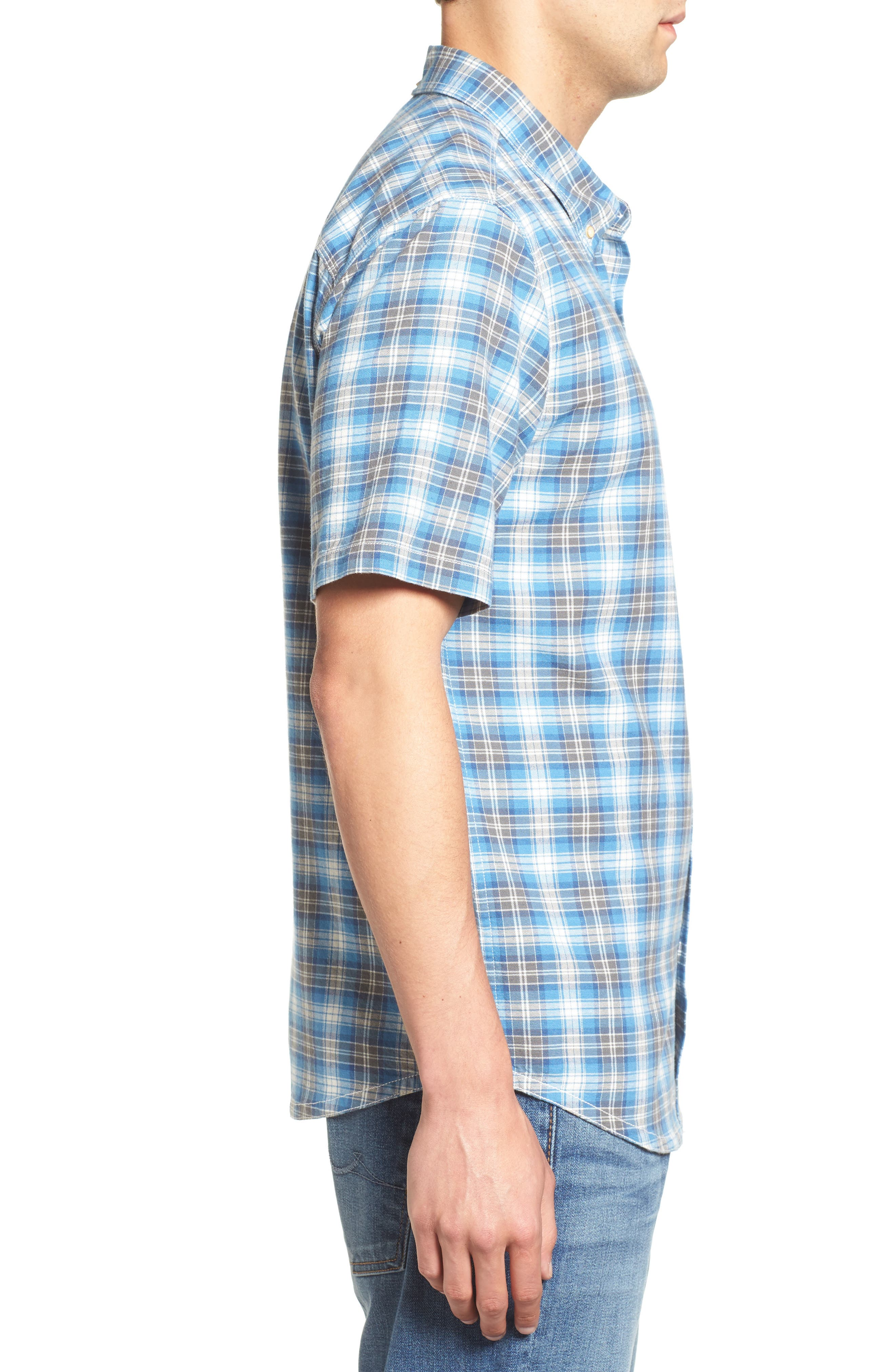 Voyager Plaid Sport Shirt,                             Alternate thumbnail 6, color,
