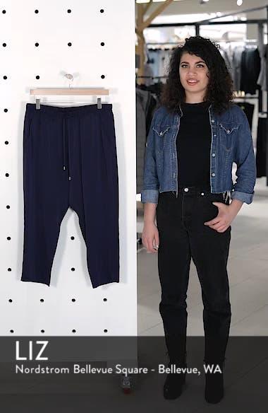Slouchy Silk Crop Pants, sales video thumbnail