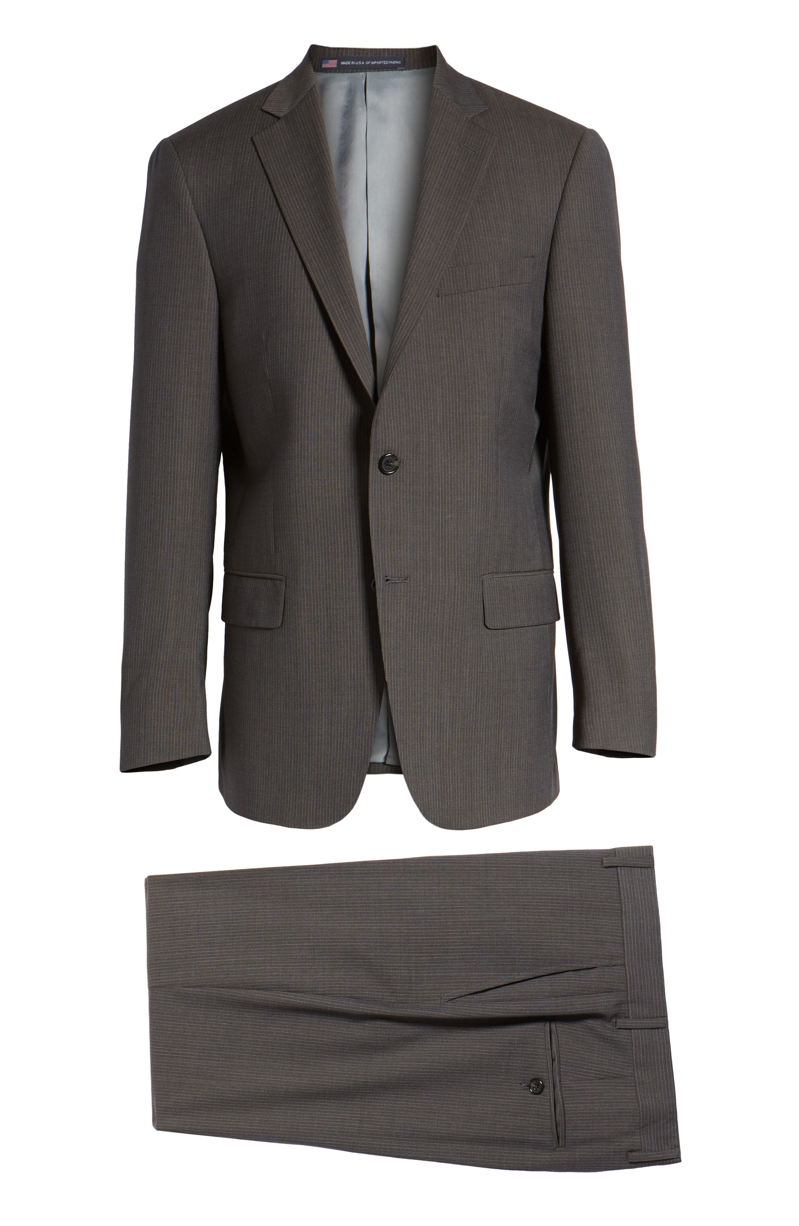 New York Classic Fit Stripe Wool Suit,                             Alternate thumbnail 8, color,                             020