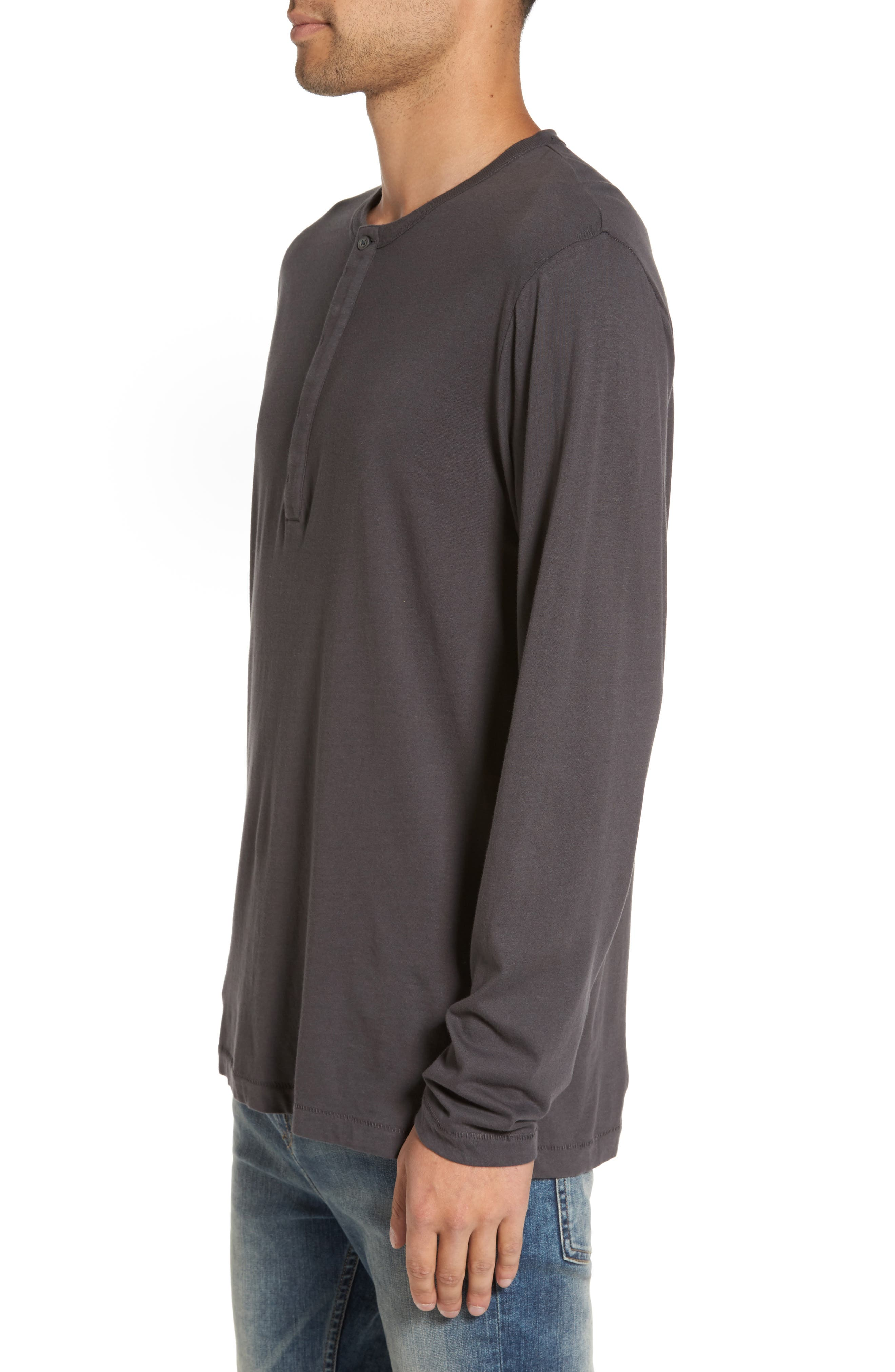 Long-Sleeve Henley T-Shirt,                             Alternate thumbnail 3, color,                             020