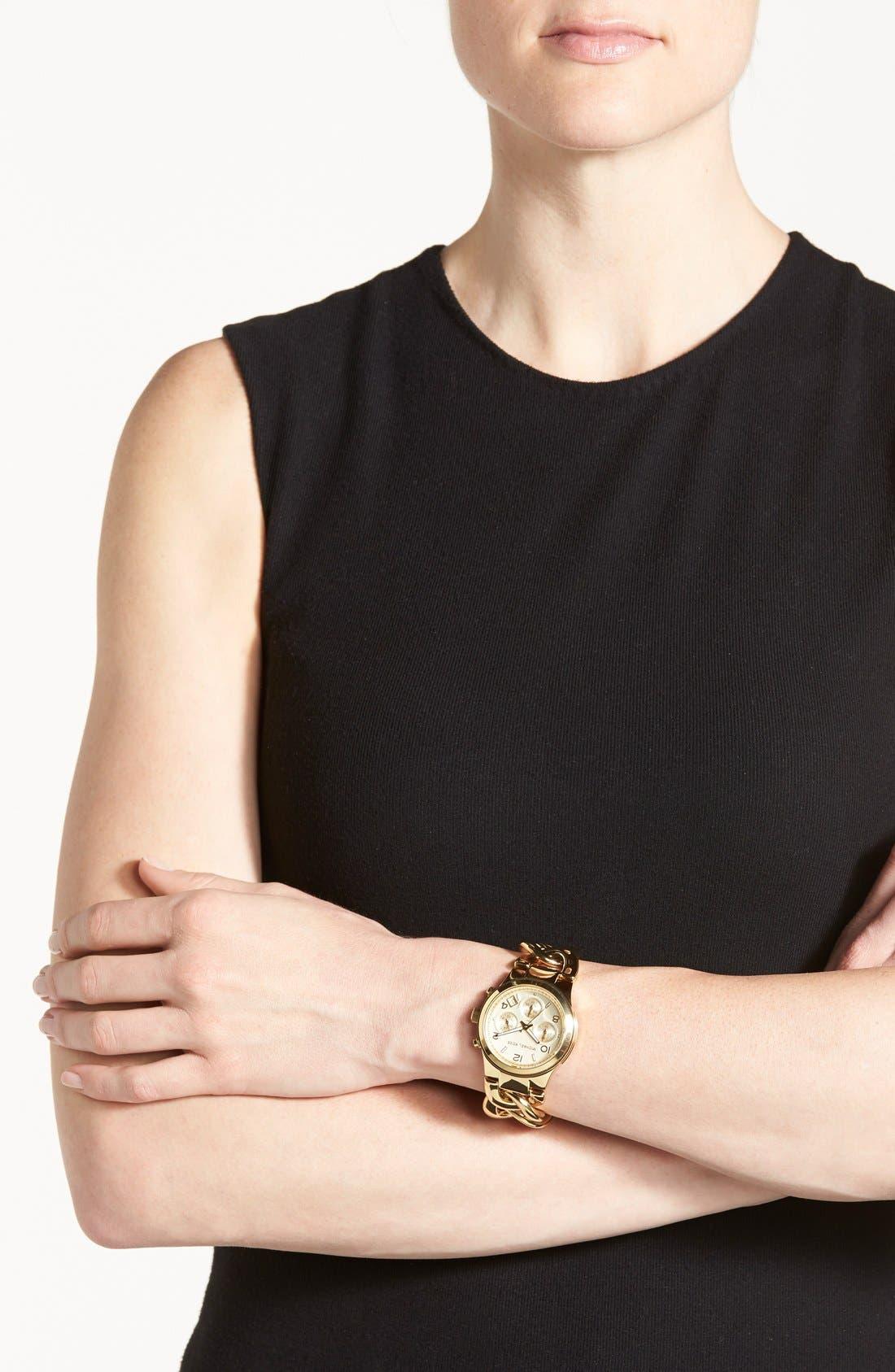 Michael Kors Chain Bracelet Chronograph Watch, 38mm,                             Alternate thumbnail 9, color,