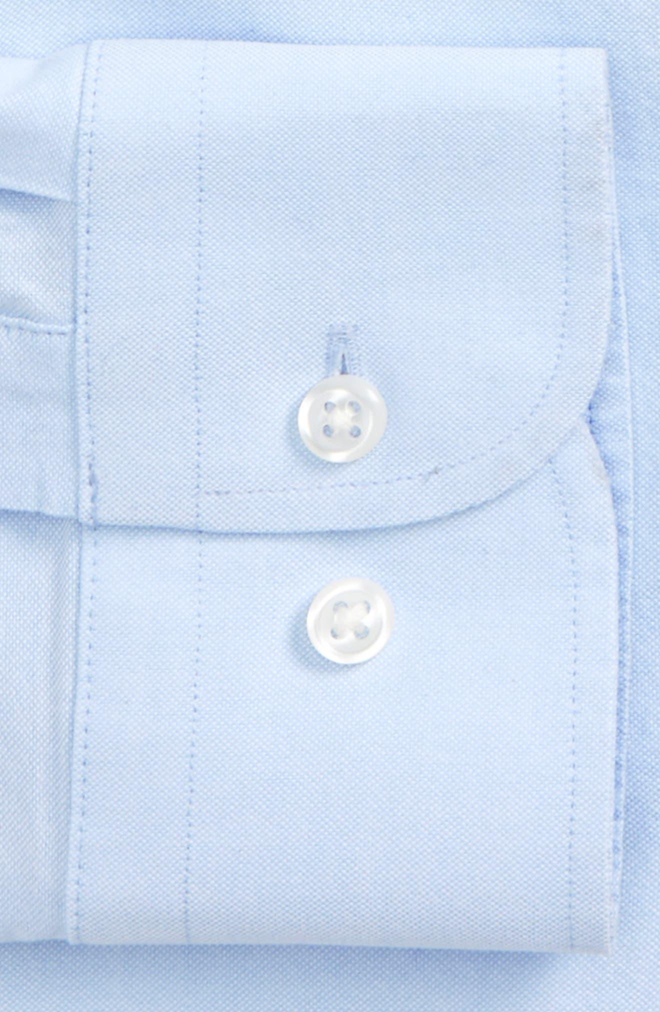 Trim Fit Solid Dress Shirt,                             Alternate thumbnail 16, color,
