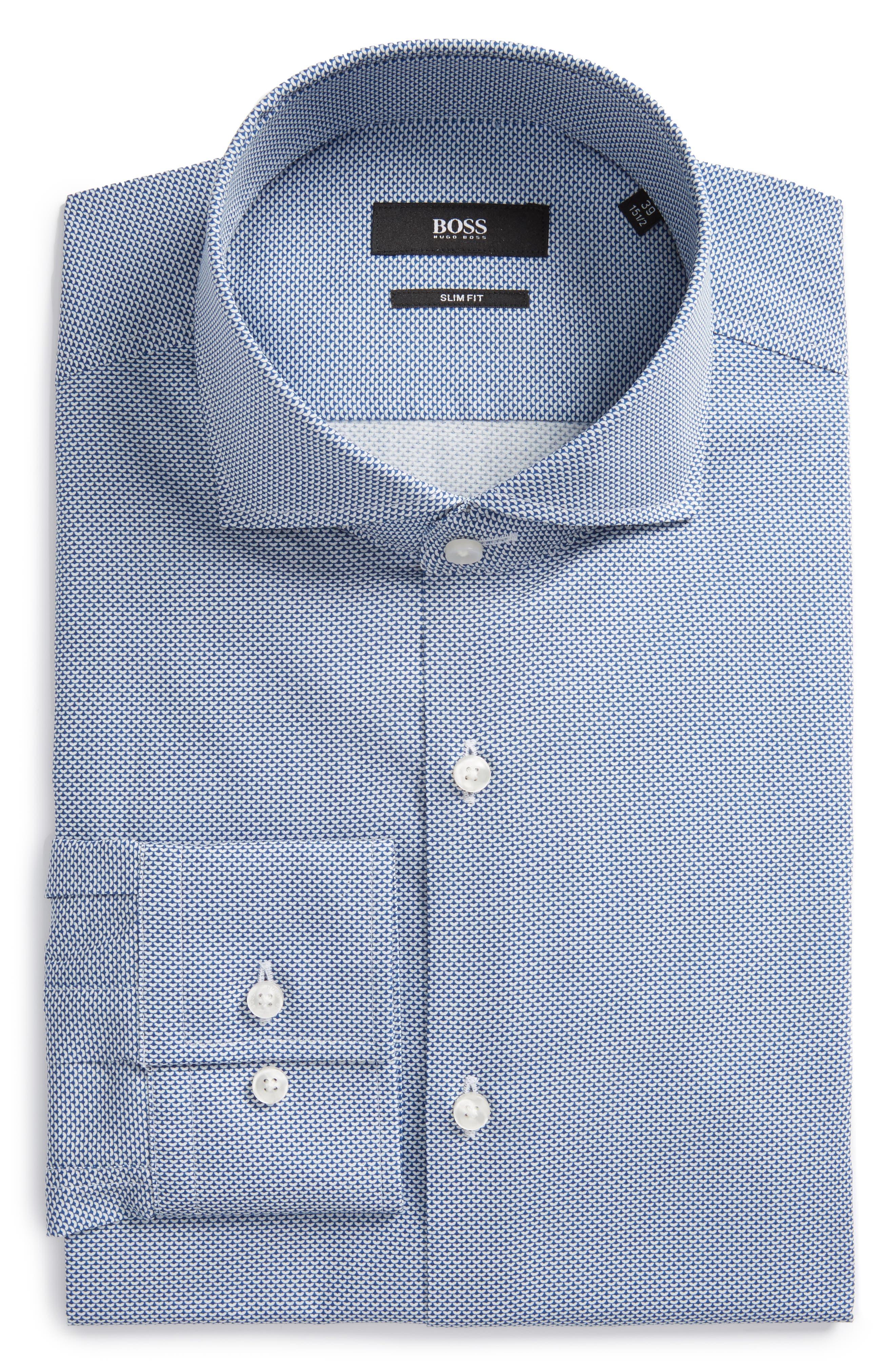 Jason Slim Fit Print Dress Shirt,                         Main,                         color,