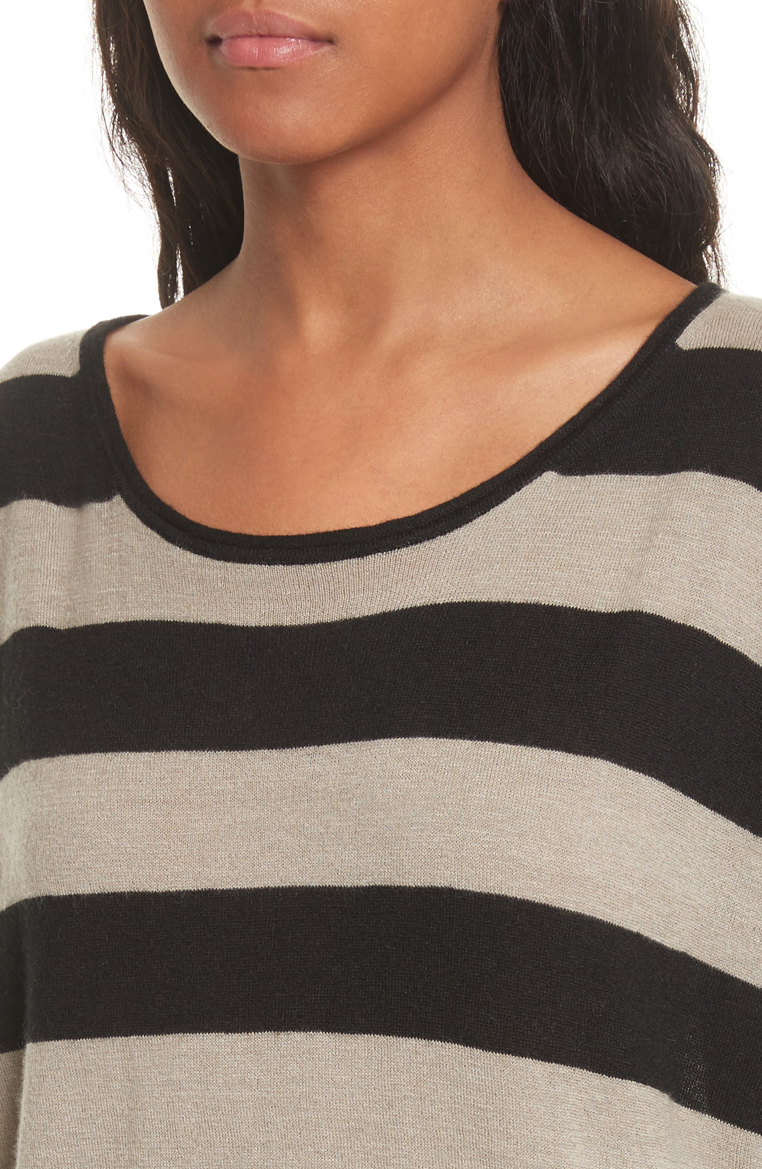 Wide Stripe Wool & Cashmere Sweater,                             Alternate thumbnail 4, color,                             260
