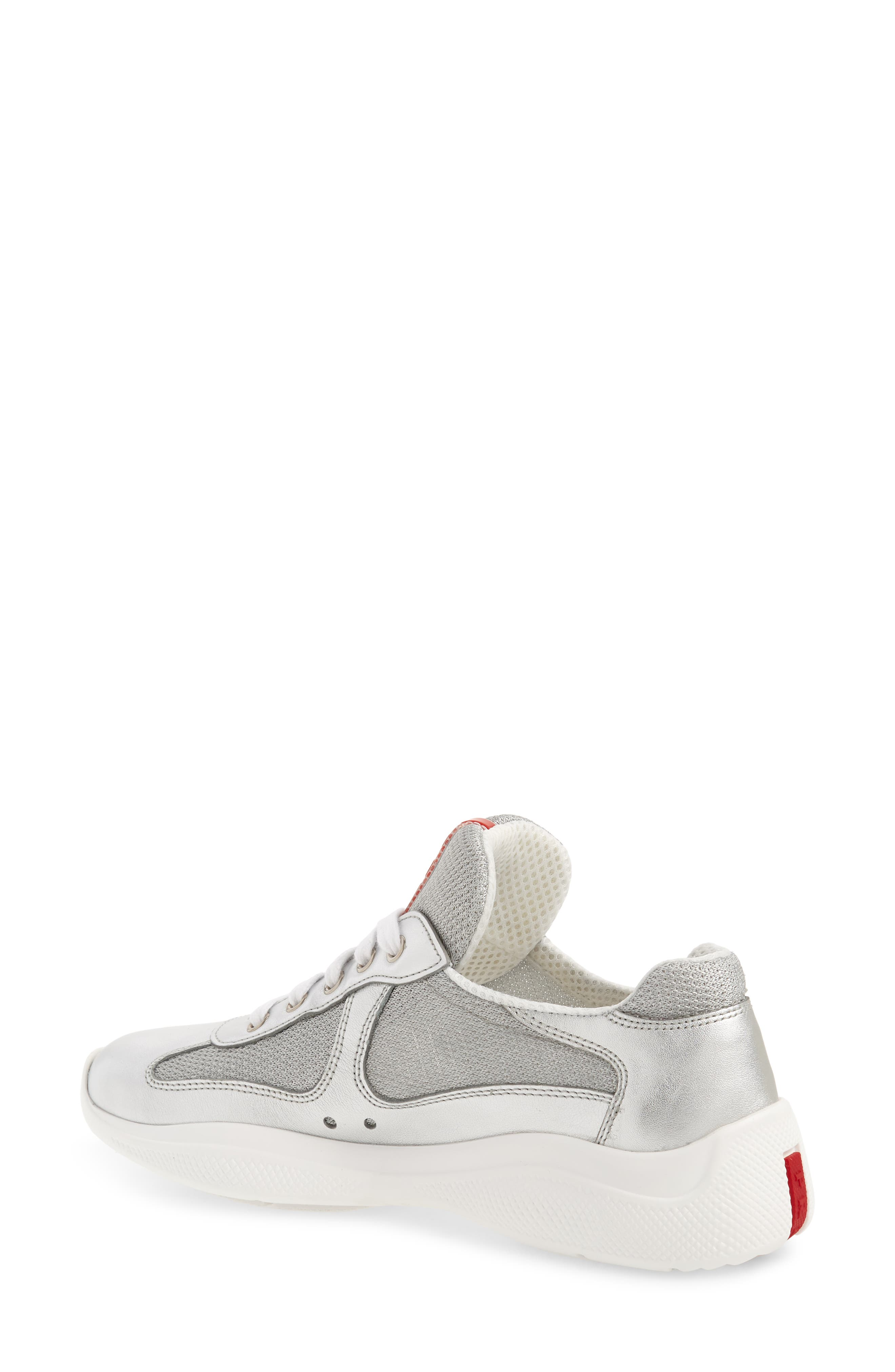 Low-Top Sneaker,                             Alternate thumbnail 2, color,                             METALLIC SILVER
