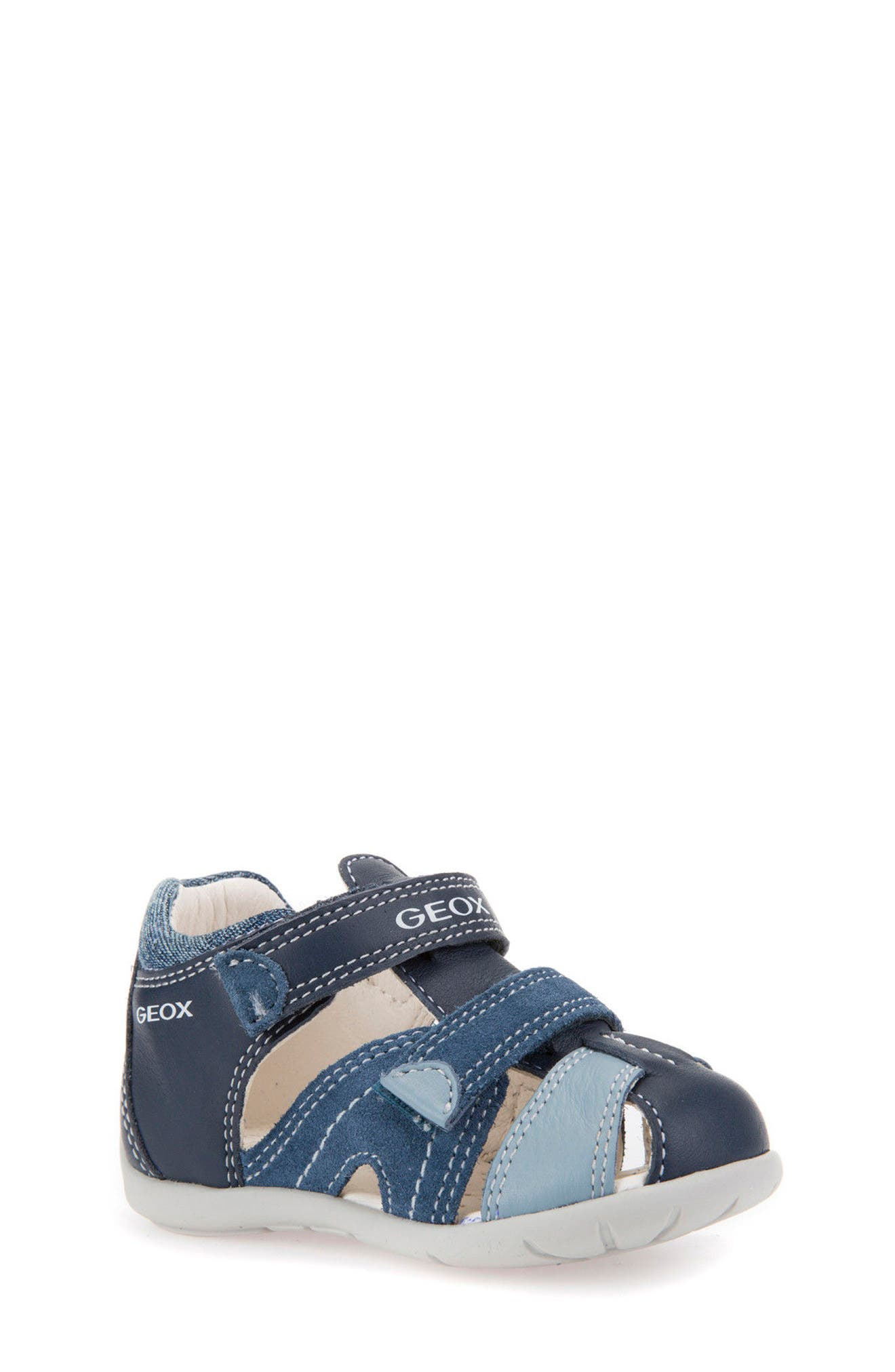 'Kaytan' Sandal,                             Main thumbnail 1, color,                             NAVY/ AVIO