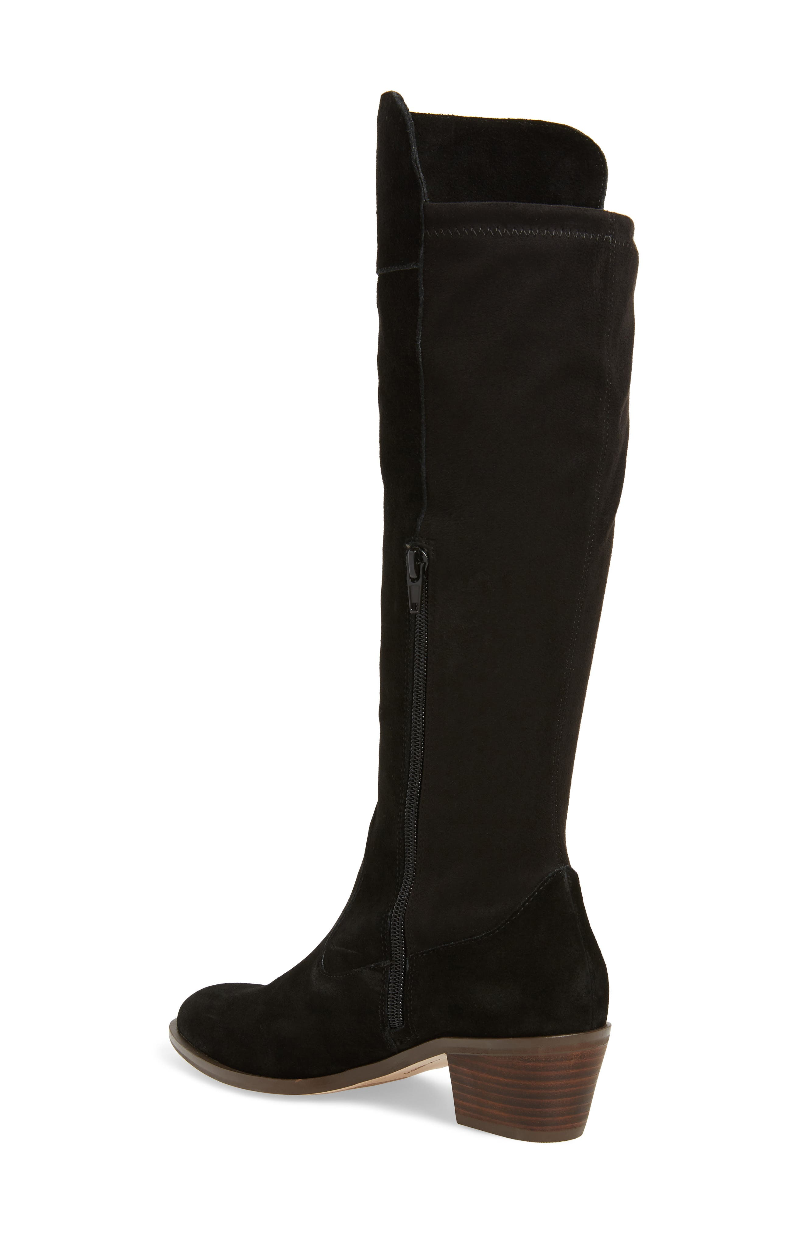 Noamie Knee High Boot,                             Alternate thumbnail 2, color,                             BLACK SUEDE