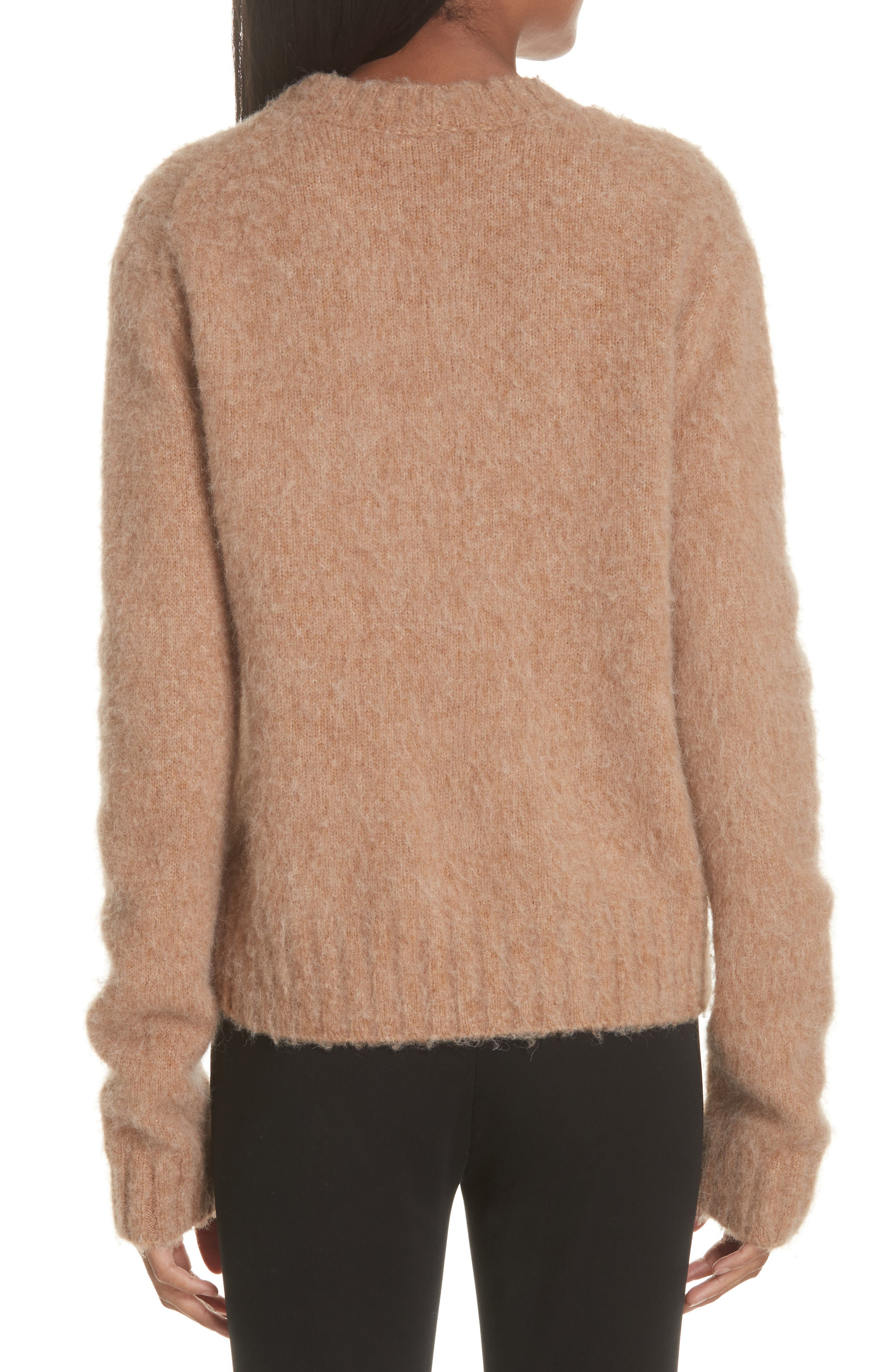 Brushed Wool & Alpaca Blend Sweater,                             Alternate thumbnail 2, color,                             BAND