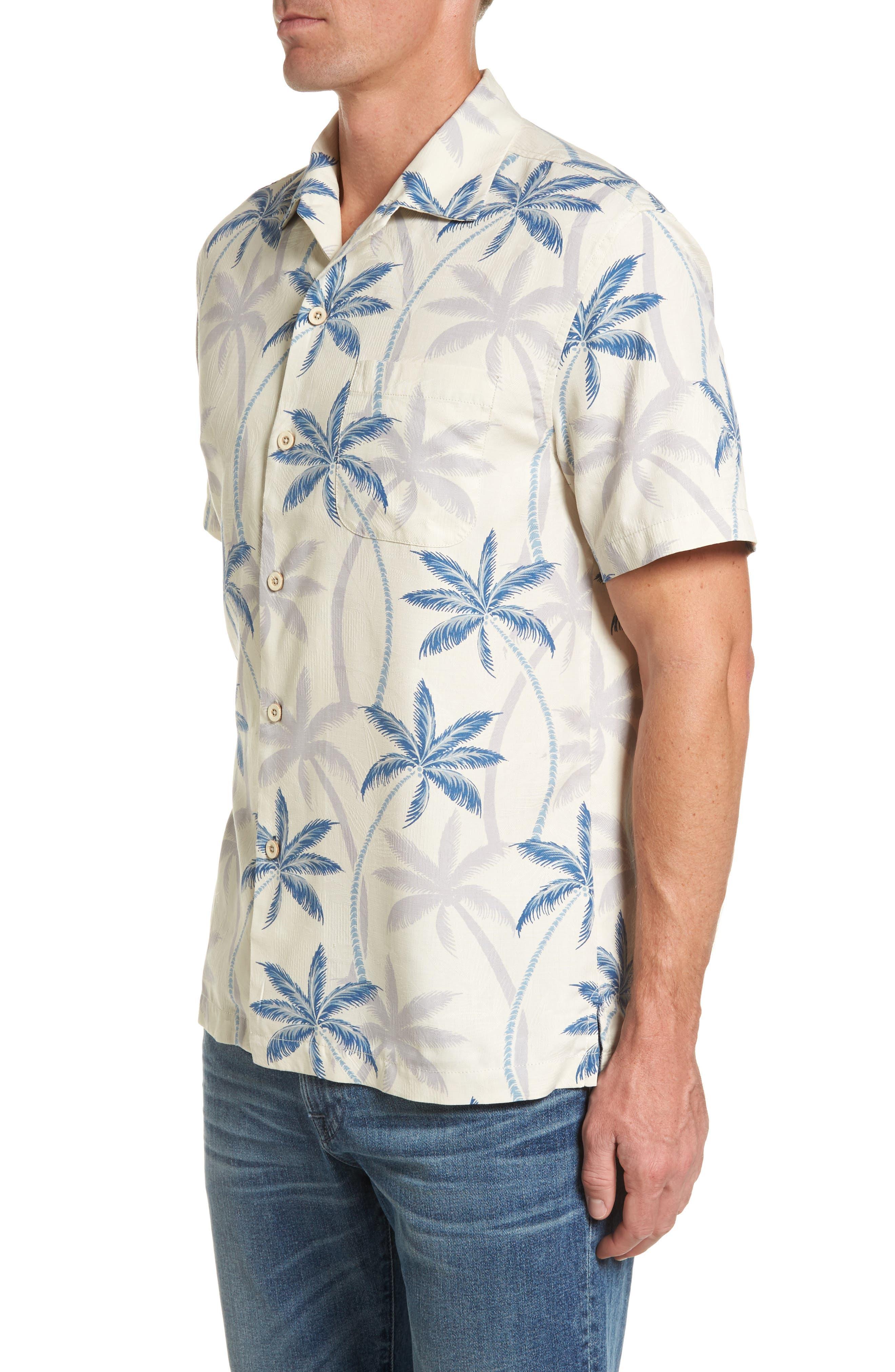 Palmas Palooza Woven Shirt,                             Alternate thumbnail 3, color,                             100