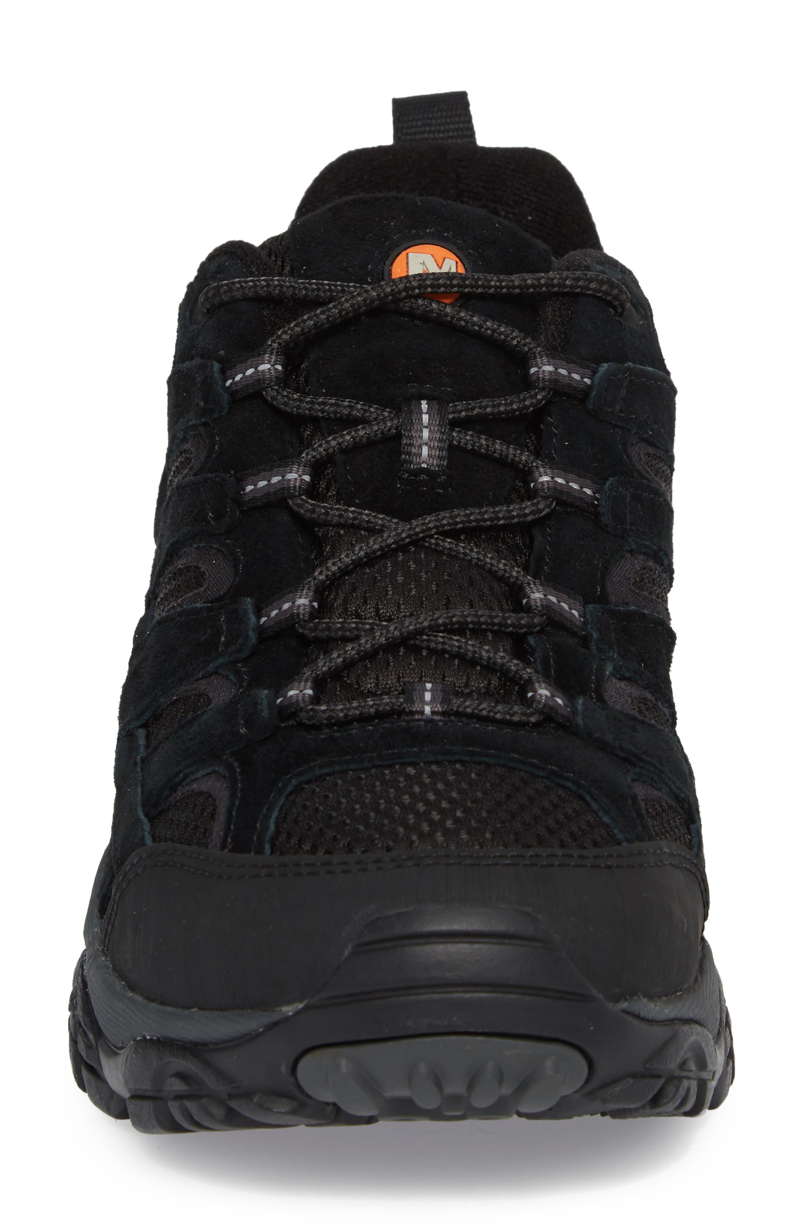 Moab 2 Ventilator Hiking Shoe,                             Alternate thumbnail 4, color,                             BLACK NIGHT