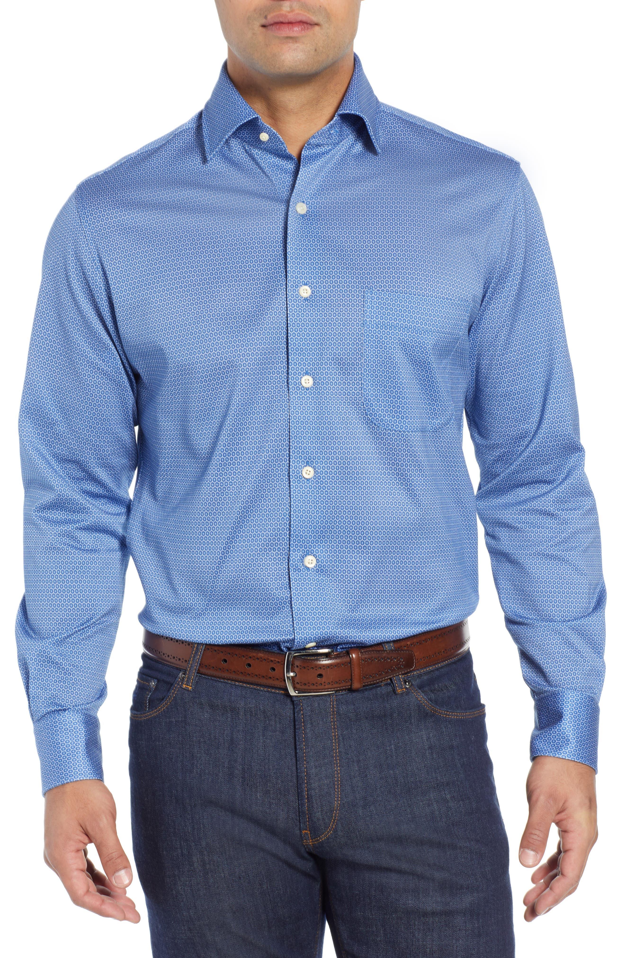 Schwinn Sport Shirt,                             Main thumbnail 1, color,                             PLAZA BLUE