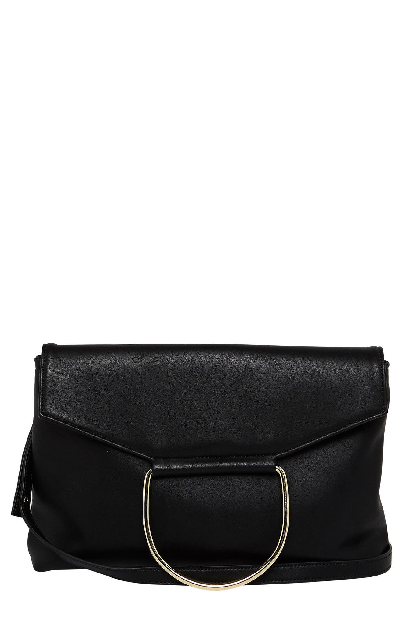 On Your Radar Vegan Leather Foldover Bag,                         Main,                         color, 001