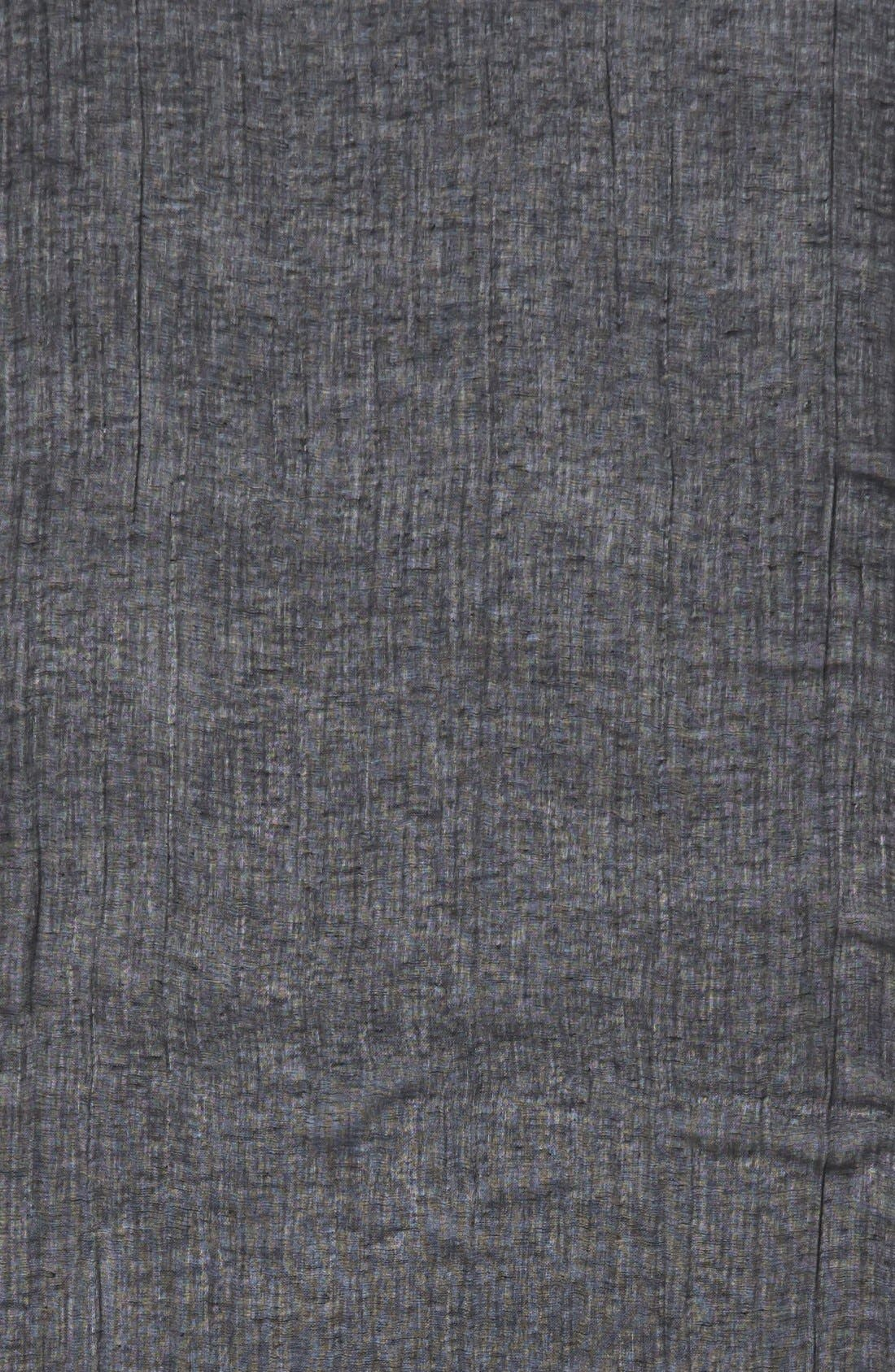 Caslon<sup>®</sup> Linen Blend Scarf,                             Alternate thumbnail 5, color,                             001