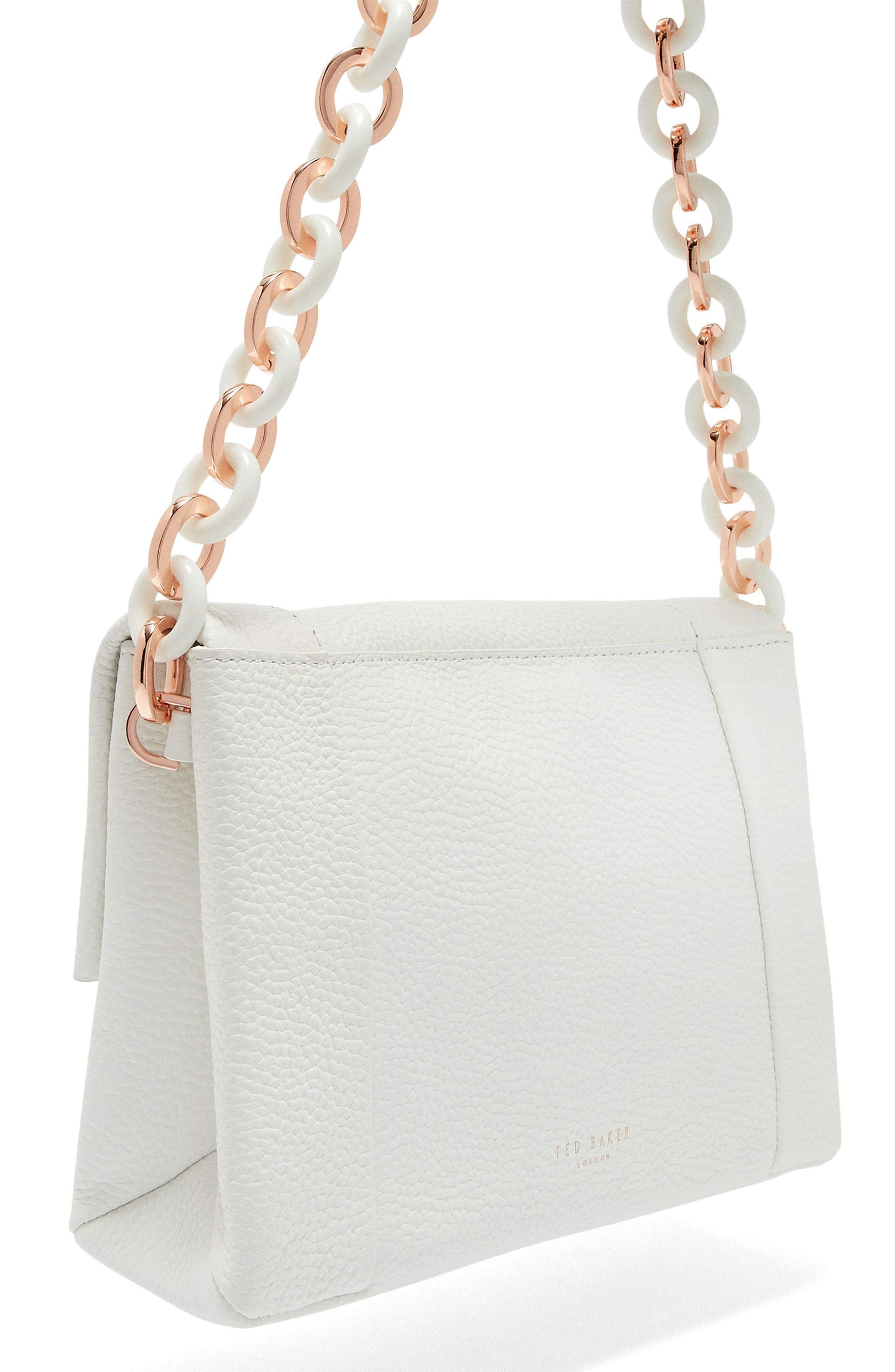 Ipomoea Leather Shoulder Bag,                             Alternate thumbnail 5, color,