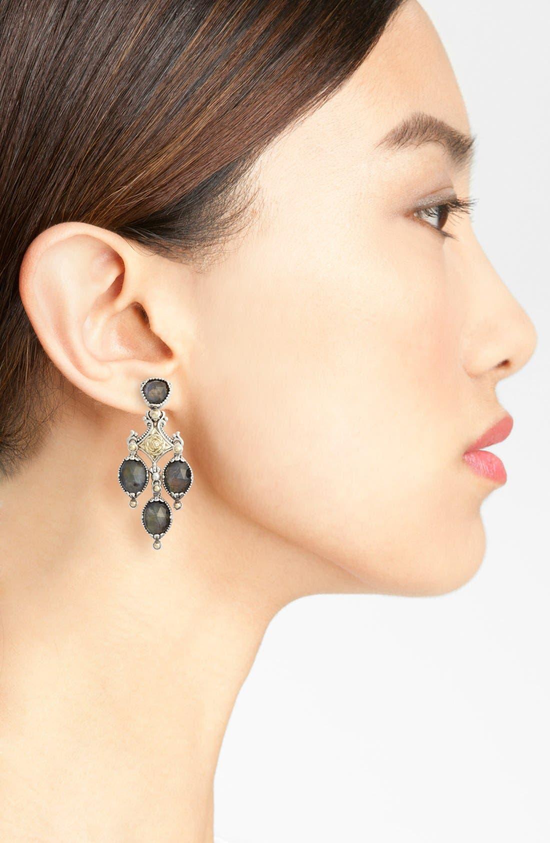 Cassiopeia Triple Drop Chandelier Earrings,                             Alternate thumbnail 2, color,                             LABRADORITE