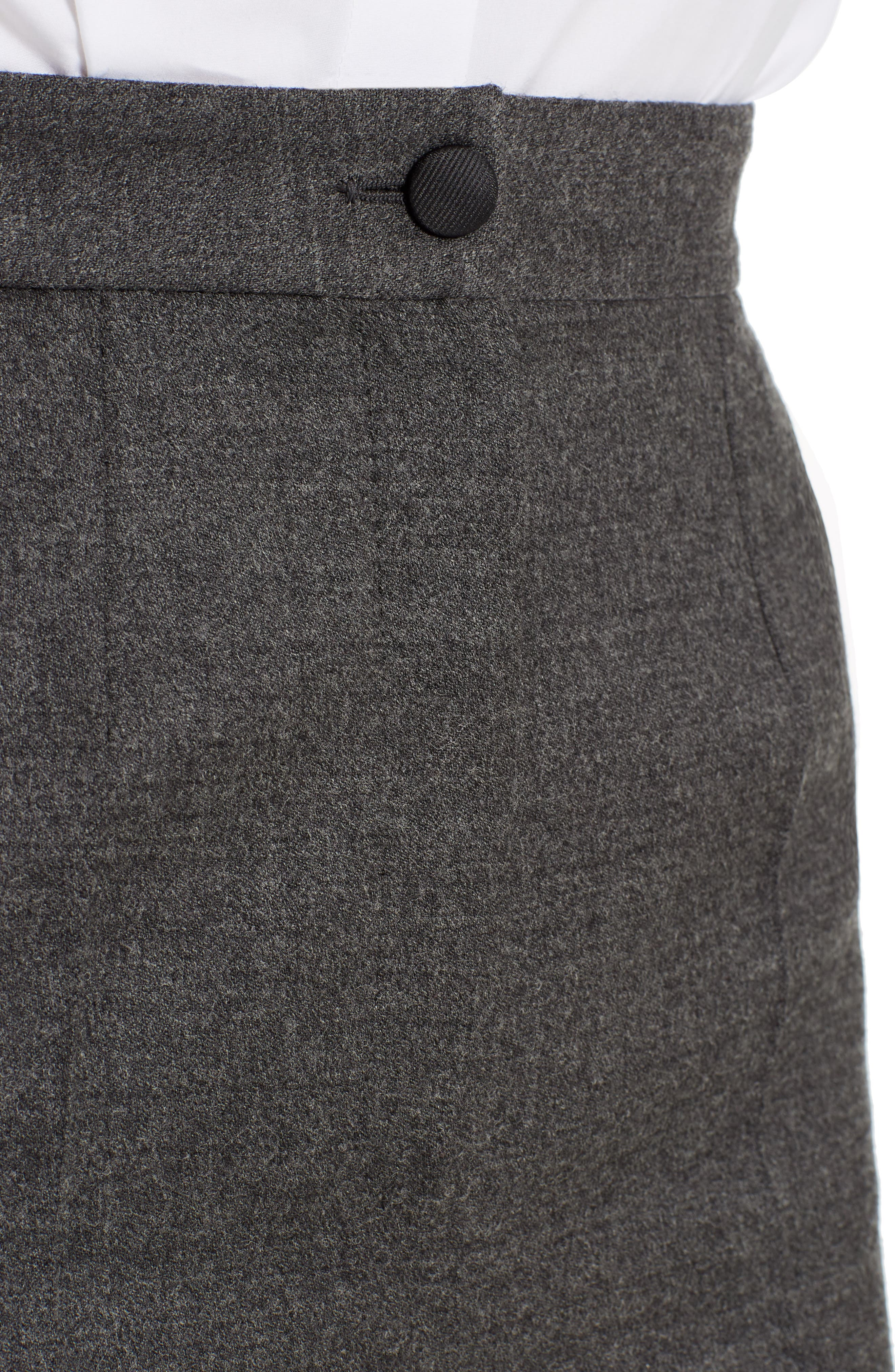 Stretch Wool Flannel Pants,                             Alternate thumbnail 4, color,                             021