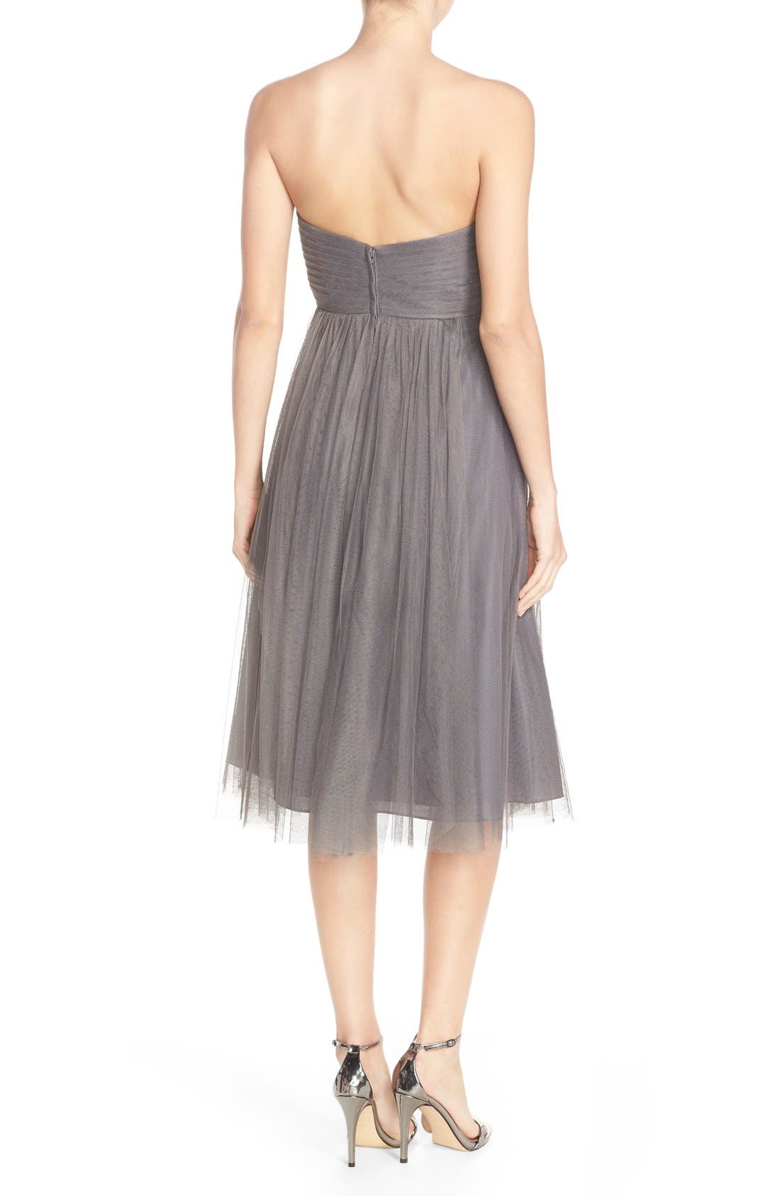 Maia Convertible Tulle Tea Length Fit & Flare Dress,                             Alternate thumbnail 5, color,                             028