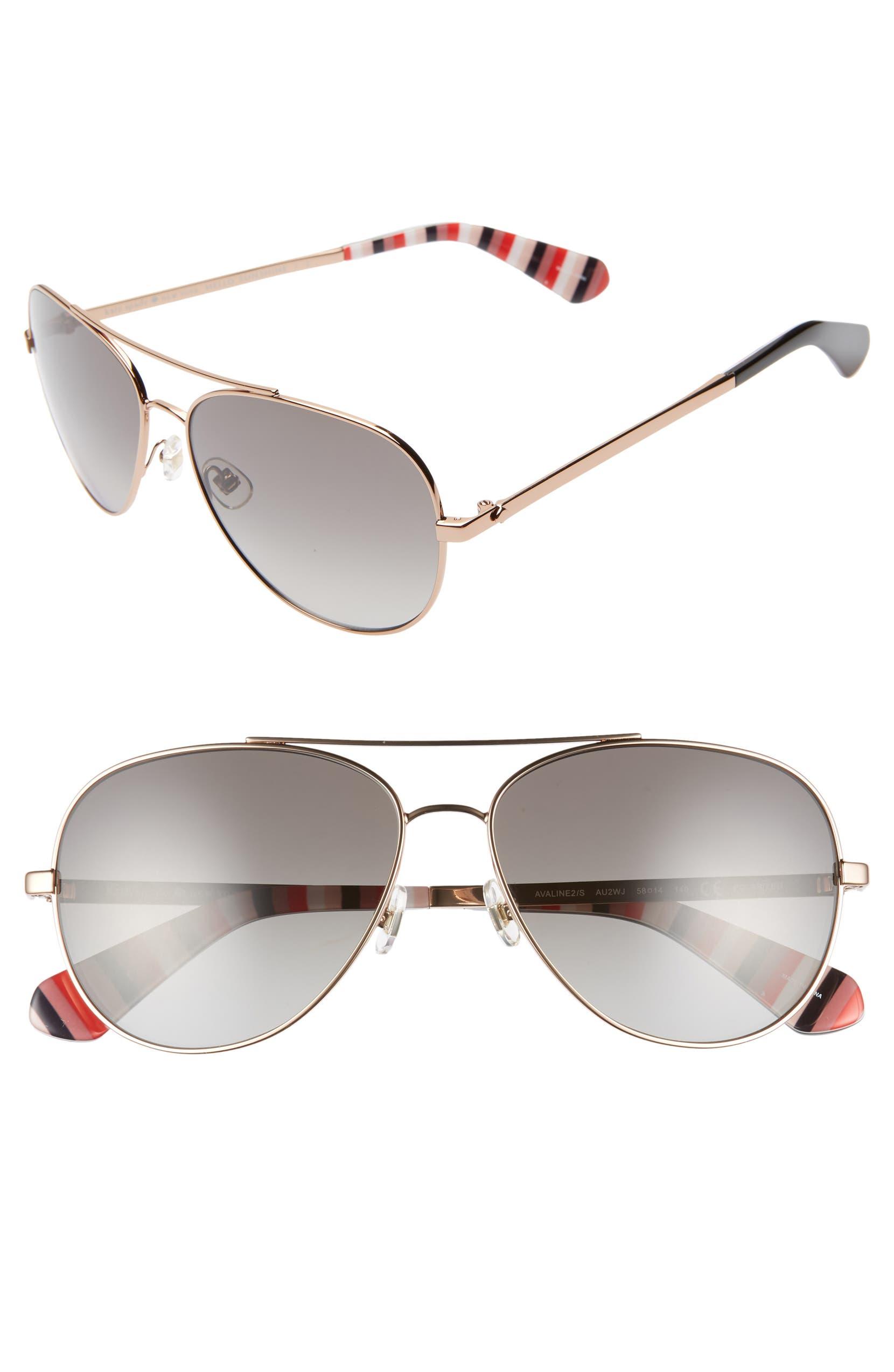 fd9f3b9375 kate spade new york avaline 2 58mm polarized aviator sunglasses ...