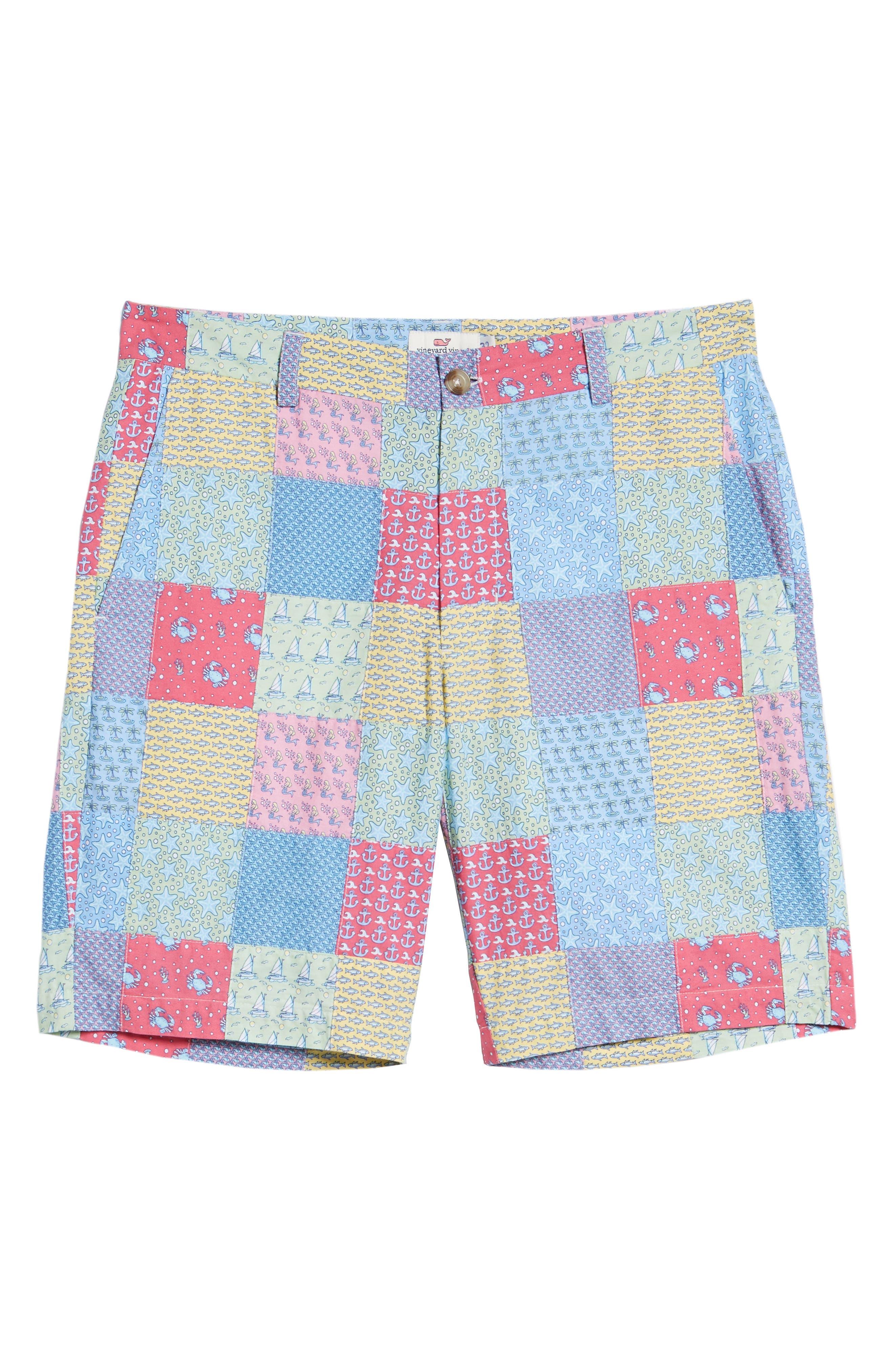 Patchwork Breaker Shorts,                             Alternate thumbnail 6, color,