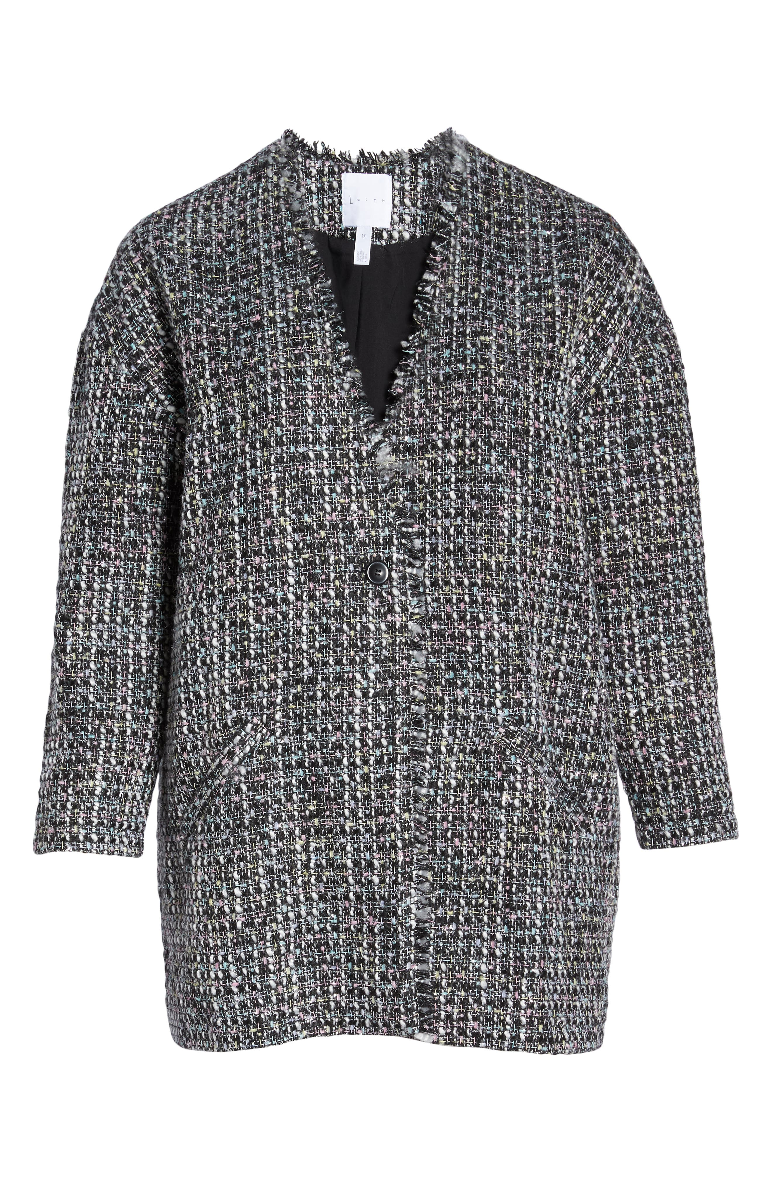 LEITH,                             Tweedy Jacket,                             Alternate thumbnail 6, color,                             001