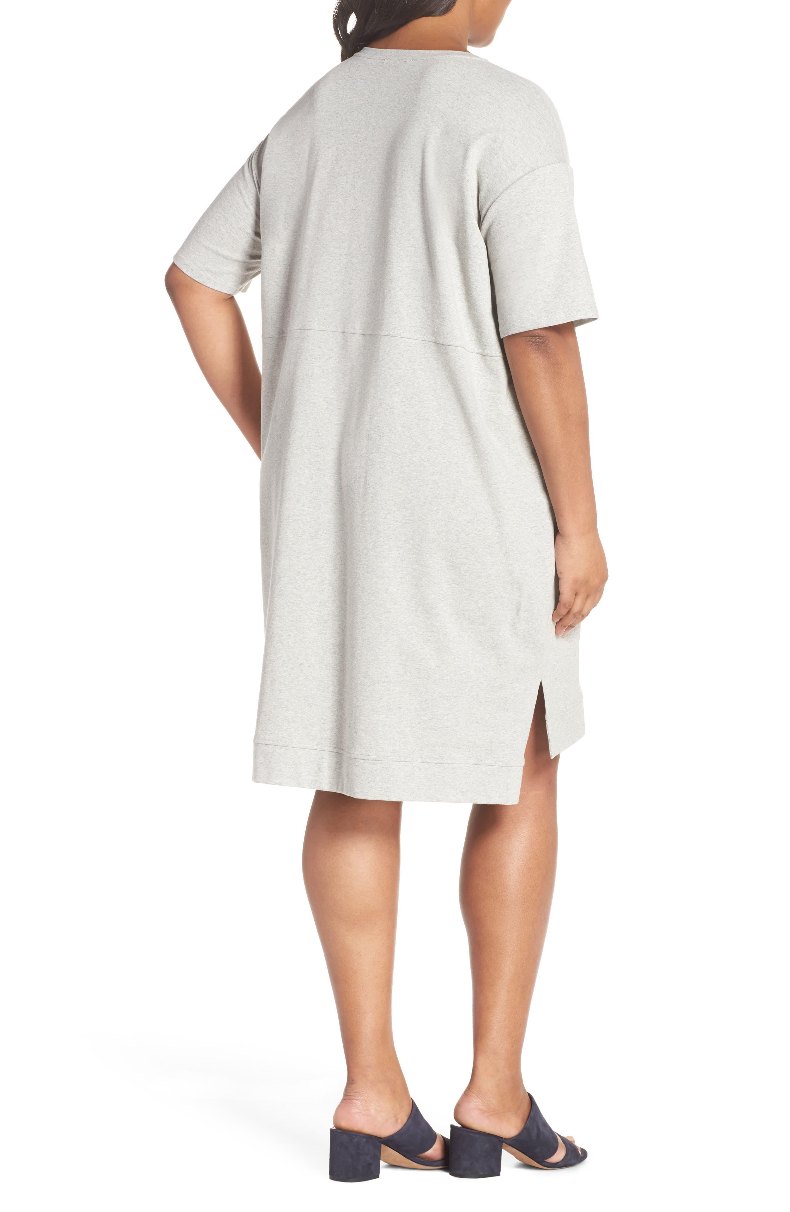 Organic Stretch Cotton Shift Dress,                             Alternate thumbnail 2, color,                             020