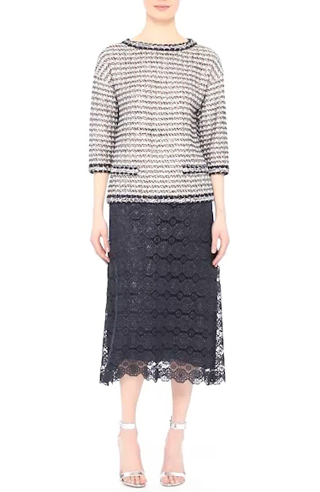 Metallic Guipure Lace Skirt,                             Alternate thumbnail 7, color,                             410