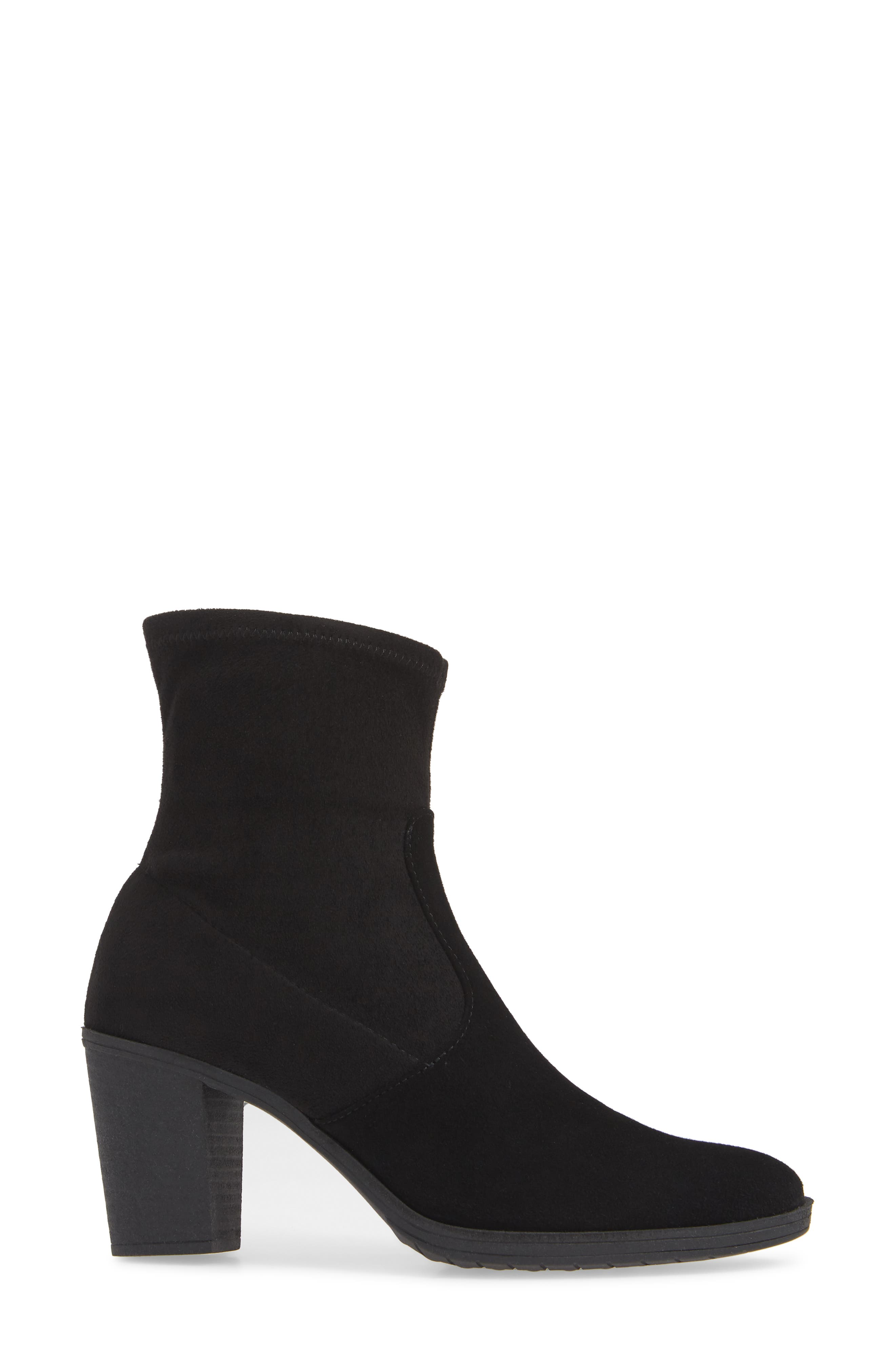 On The Rocks Bootie,                             Alternate thumbnail 3, color,                             BLACK SUEDE