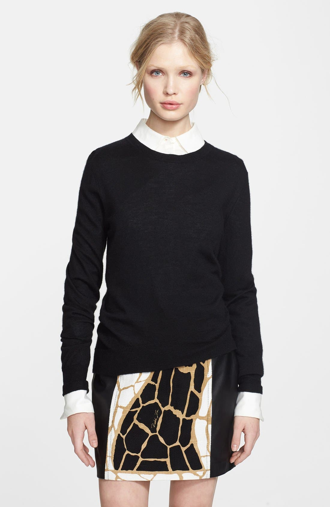 ,                             Rachel Zoe Cashmere Sweater & Miniskirt,                             Main thumbnail 1, color,                             001