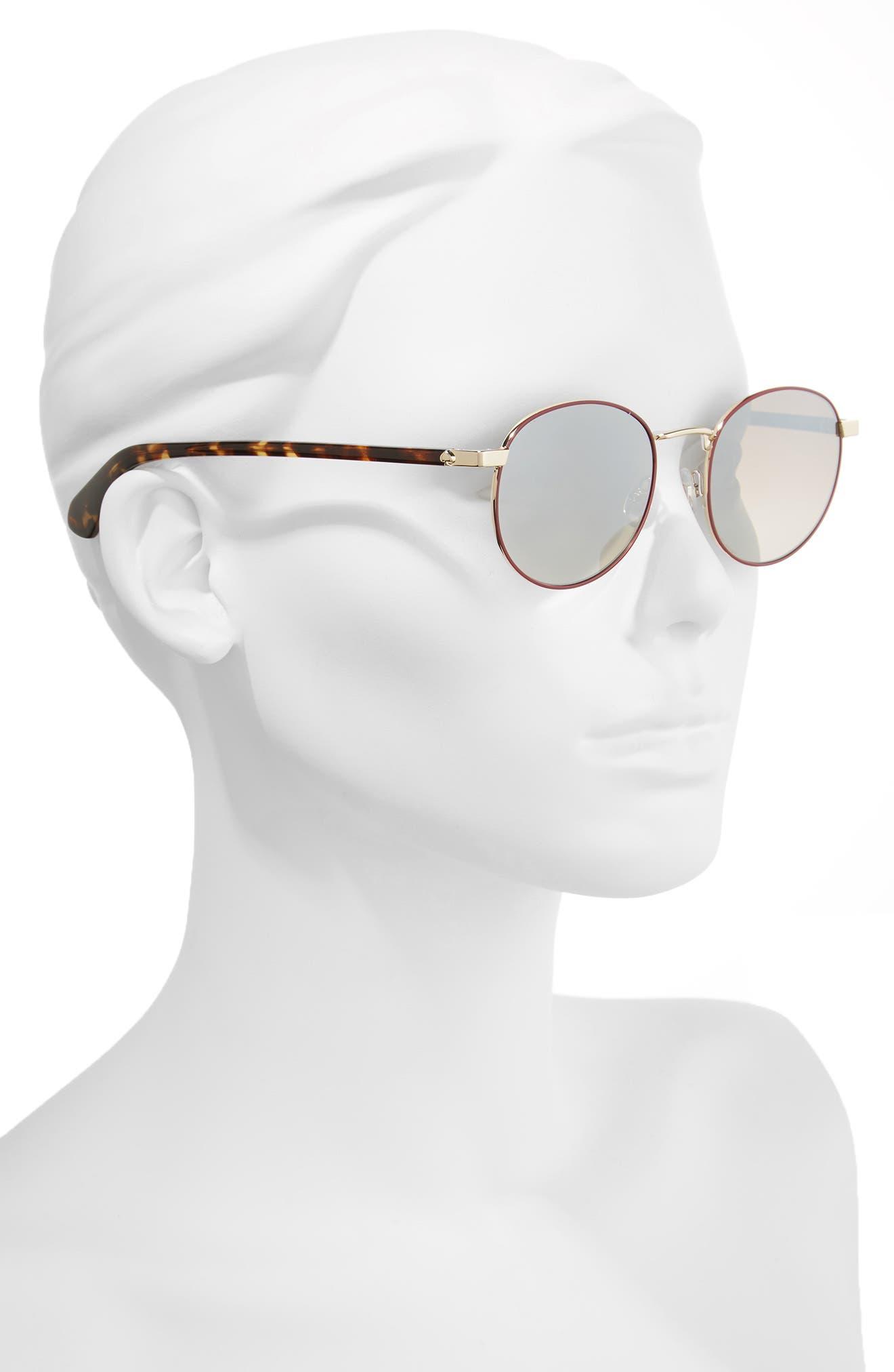 adelais 50mm round sunglasses,                             Alternate thumbnail 7, color,