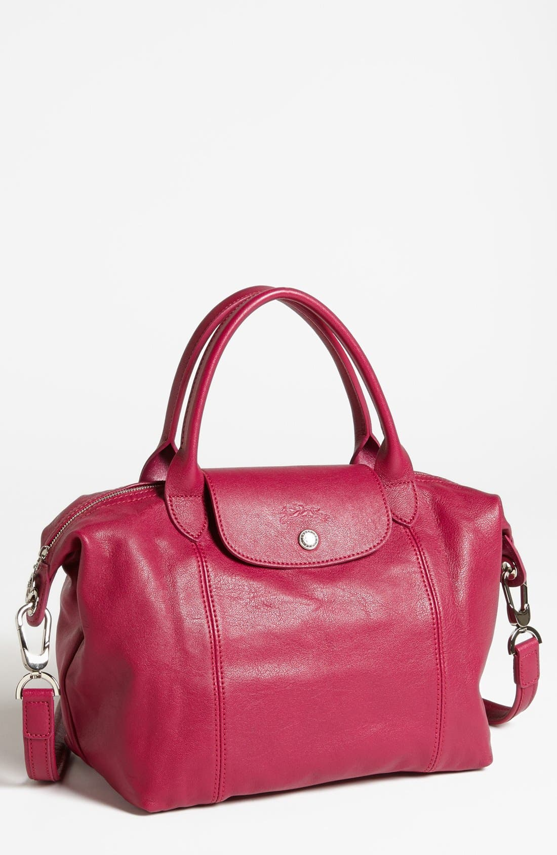 Small 'Le Pliage Cuir' Leather Top Handle Tote,                             Main thumbnail 21, color,