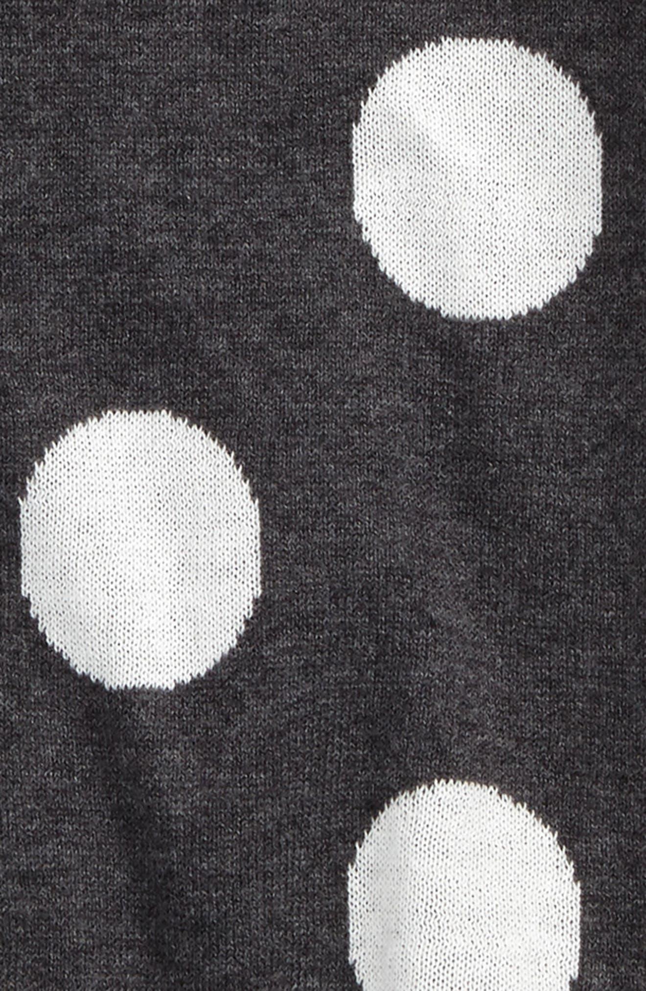 Polka Dot Sweater Dress,                             Alternate thumbnail 2, color,                             021