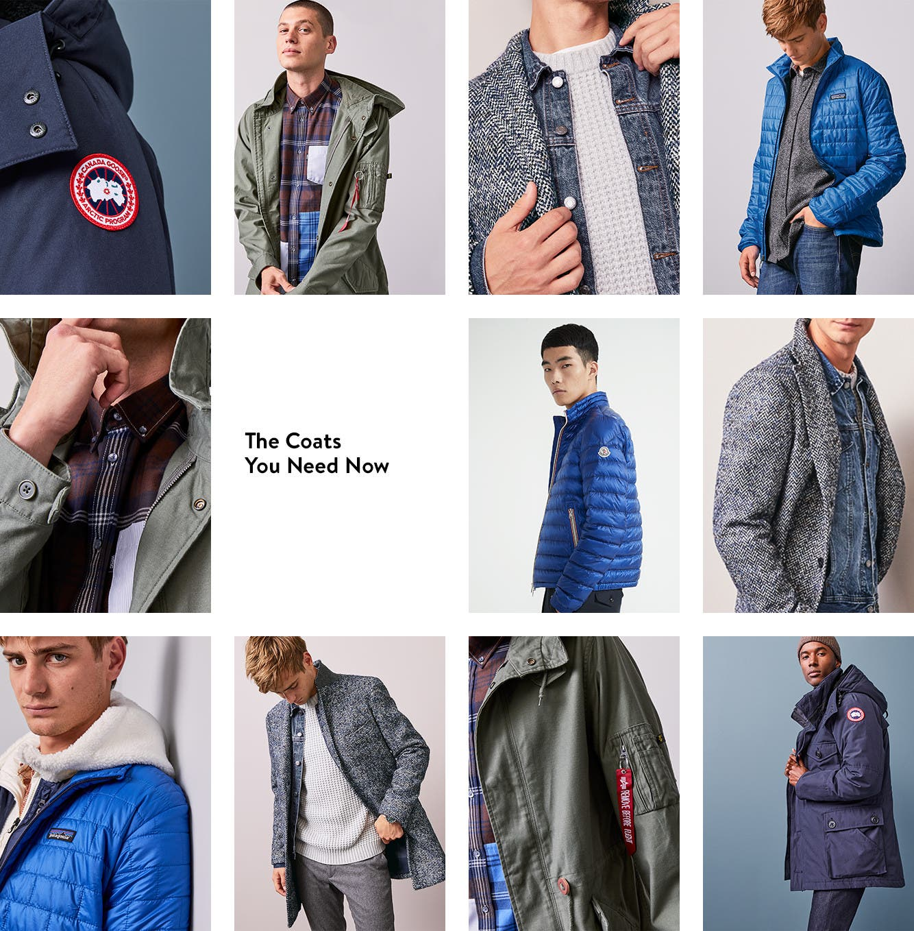 The coats you need now: coats for men.