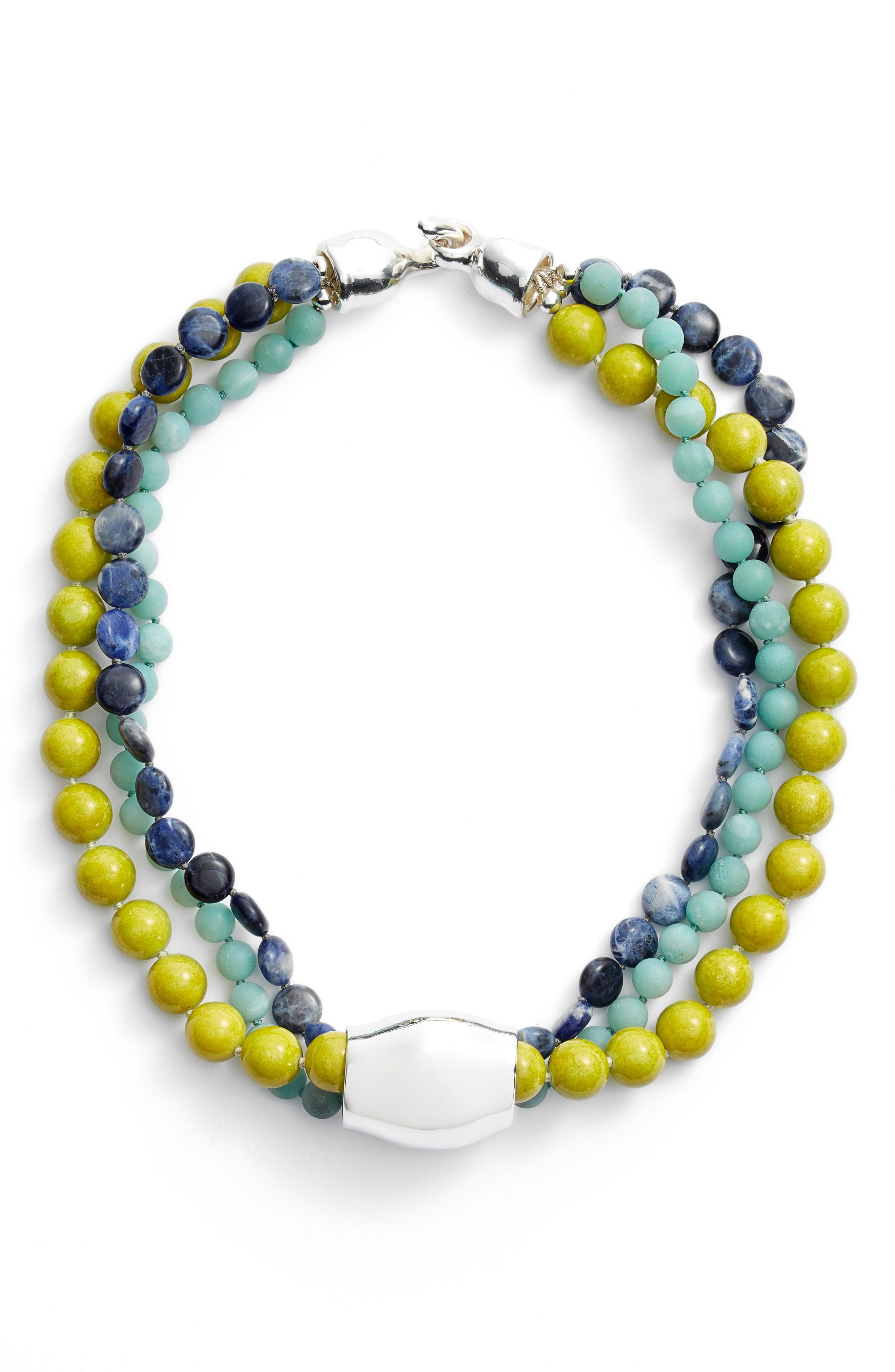 Stone Beaded Necklace, Main, color, 440