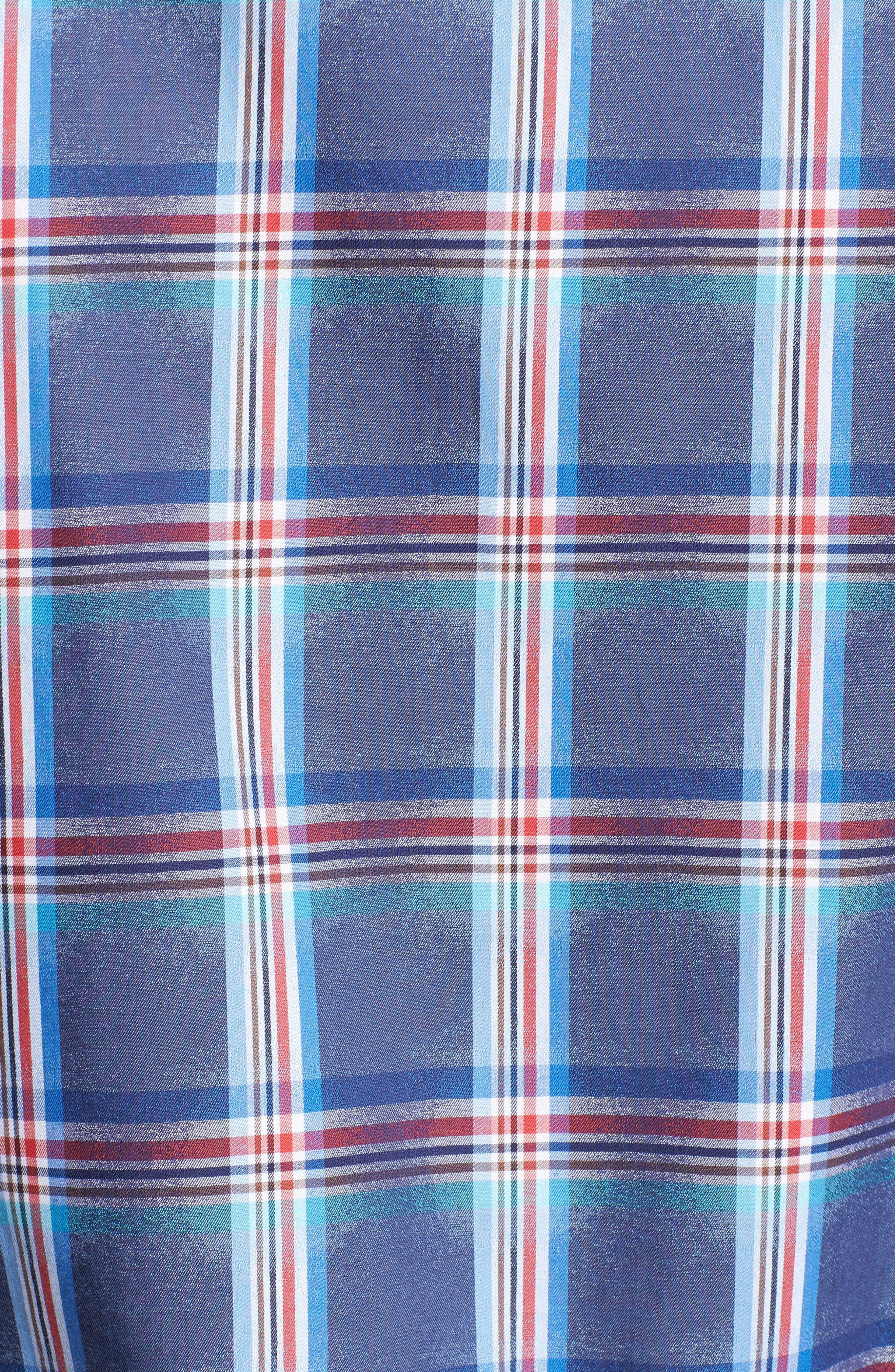 Classic Fit Plaid Sport Shirt,                             Alternate thumbnail 5, color,                             411