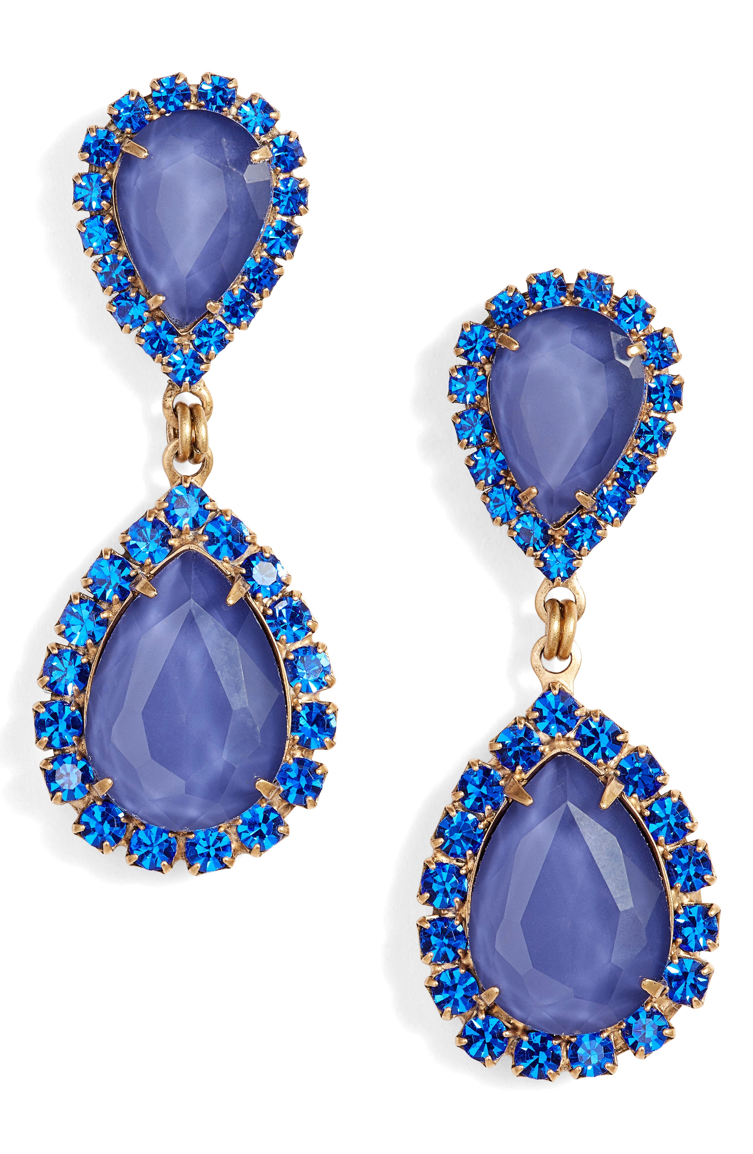 Abba Crystal Drop Earrings,                         Main,                         color, SAPPHIRE