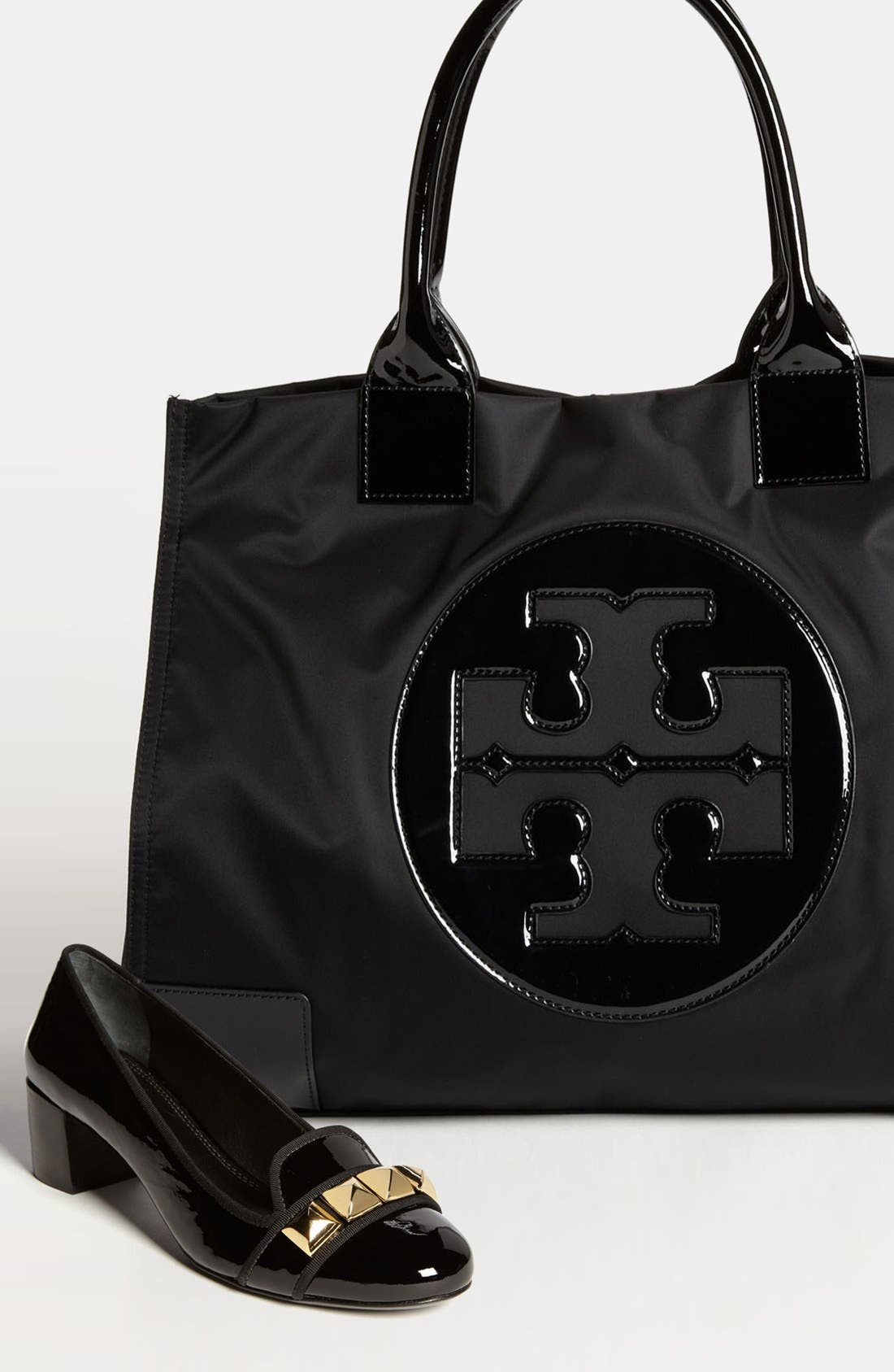 'Ella' Nylon Tote,                             Alternate thumbnail 7, color,                             BLACK/ BLACK