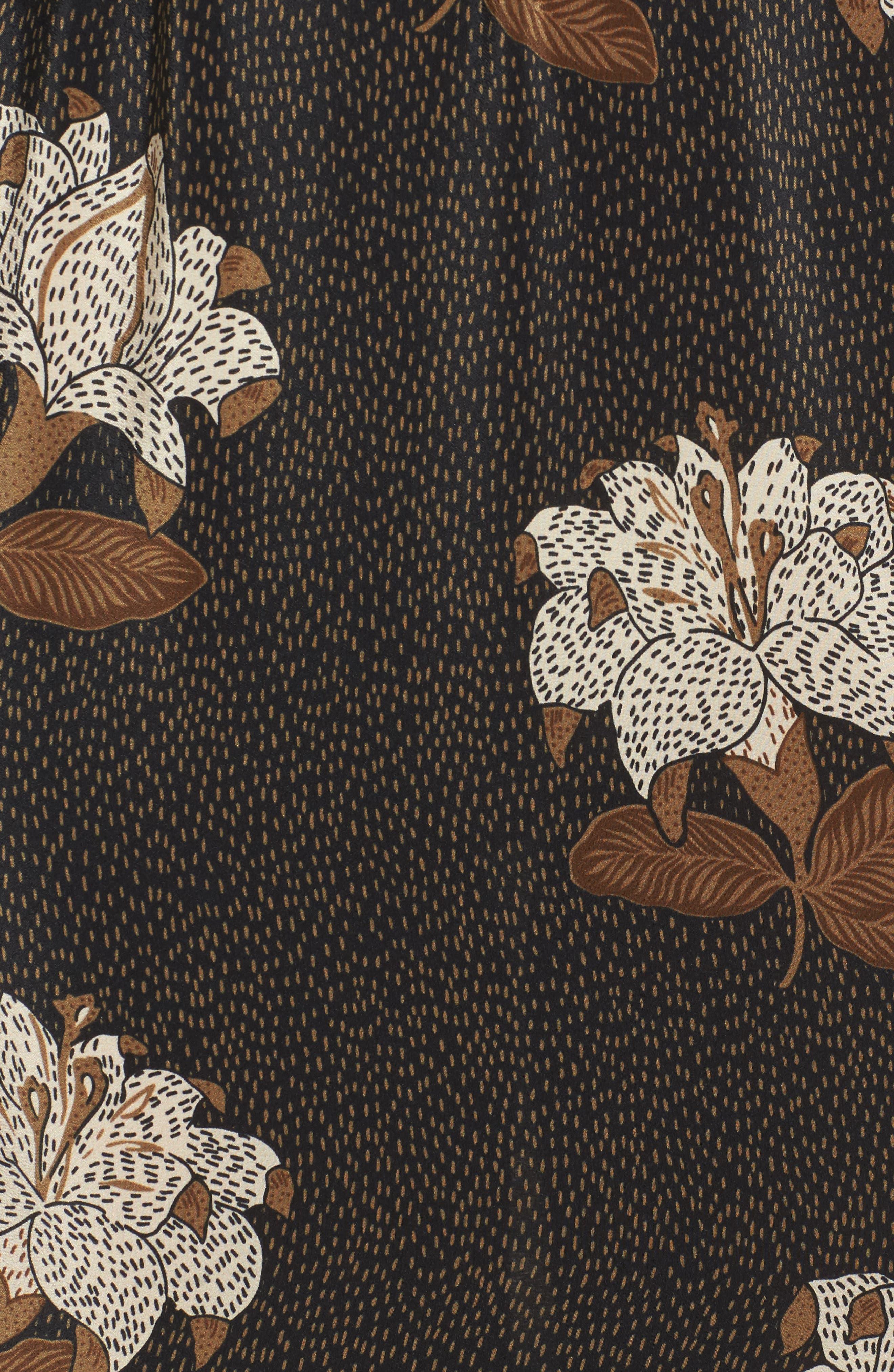 Johnny One-Shoulder Silk Dress,                             Alternate thumbnail 5, color,                             001