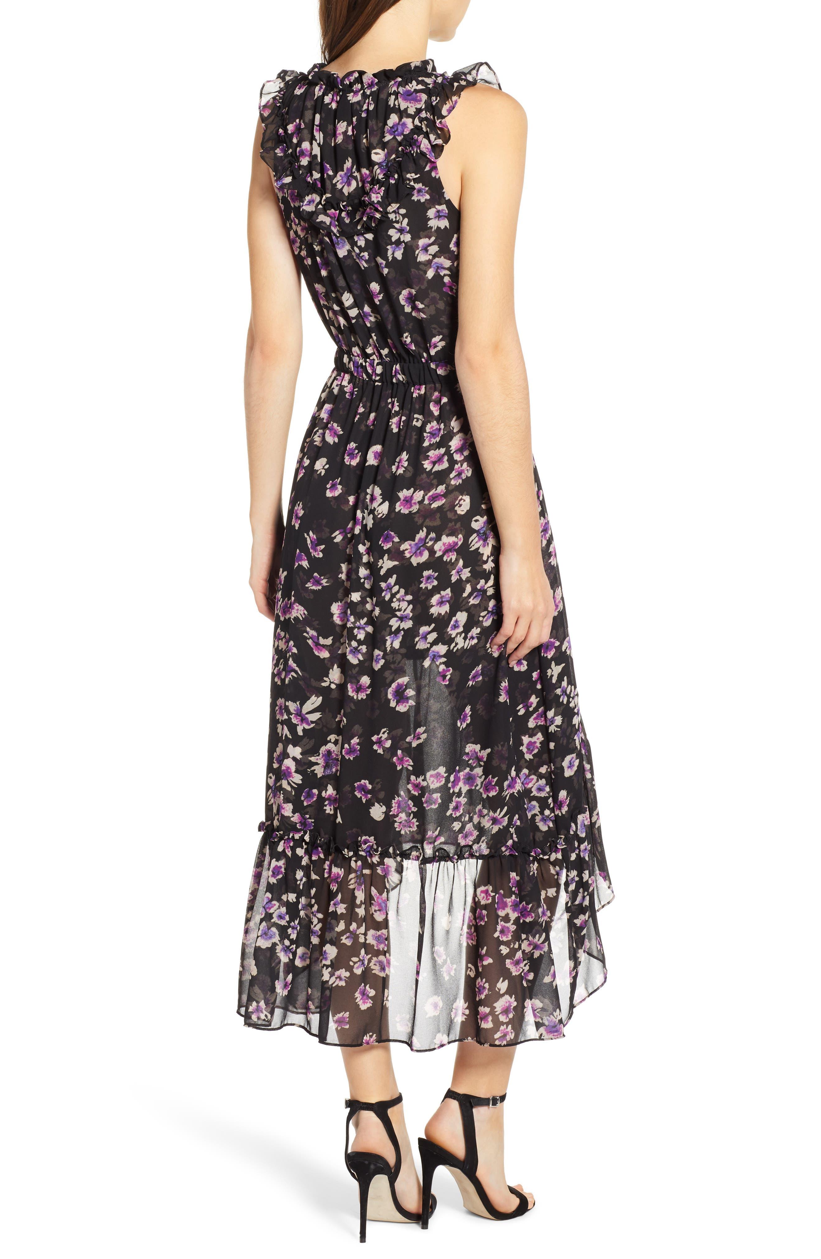 MISA LOS ANGELES,                             Caterine Sleeveless High/Low Dress,                             Alternate thumbnail 2, color,                             009