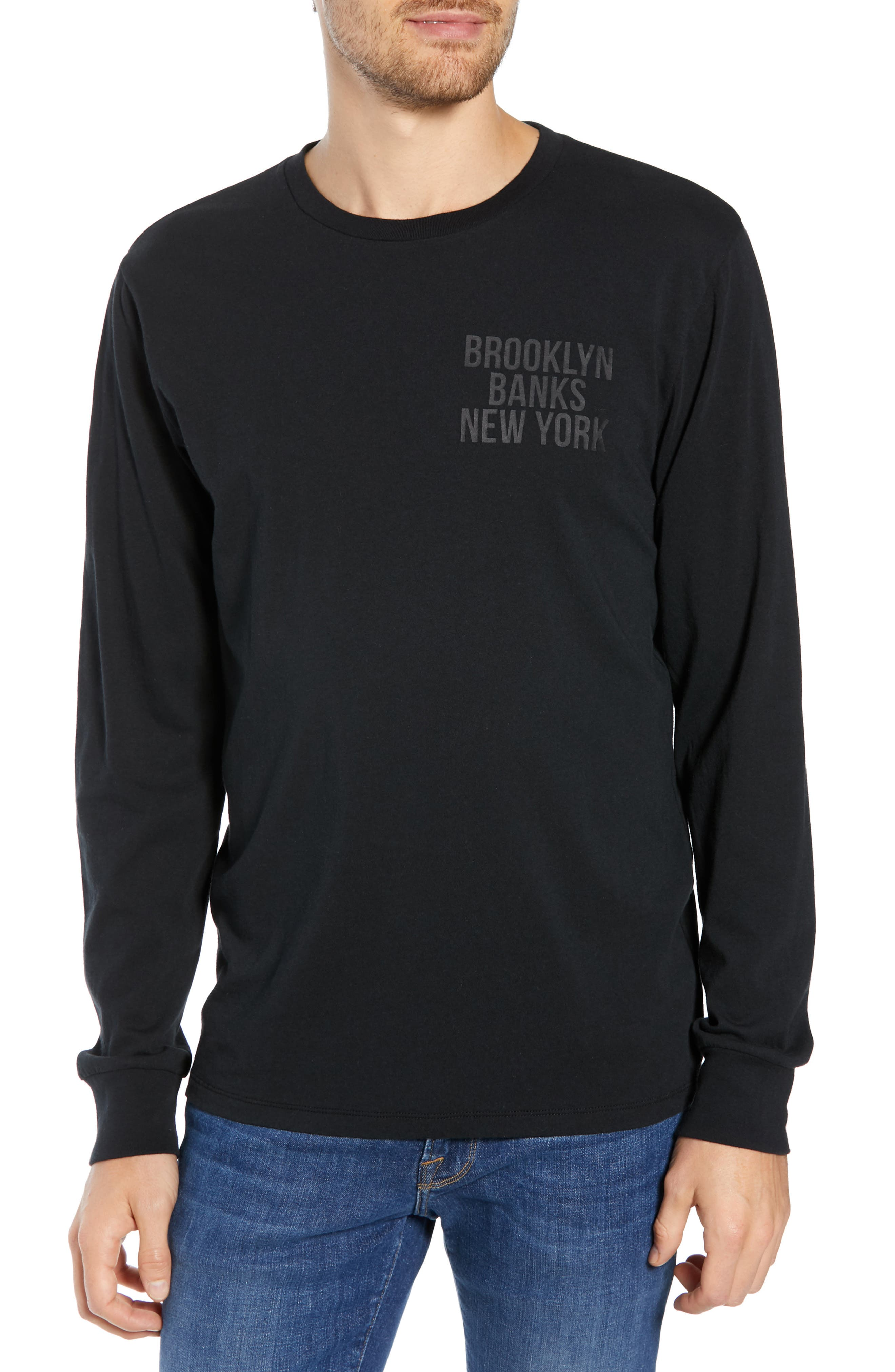 Brooklyn Banks Long Sleeve T-Shirt, Main, color, BLACK