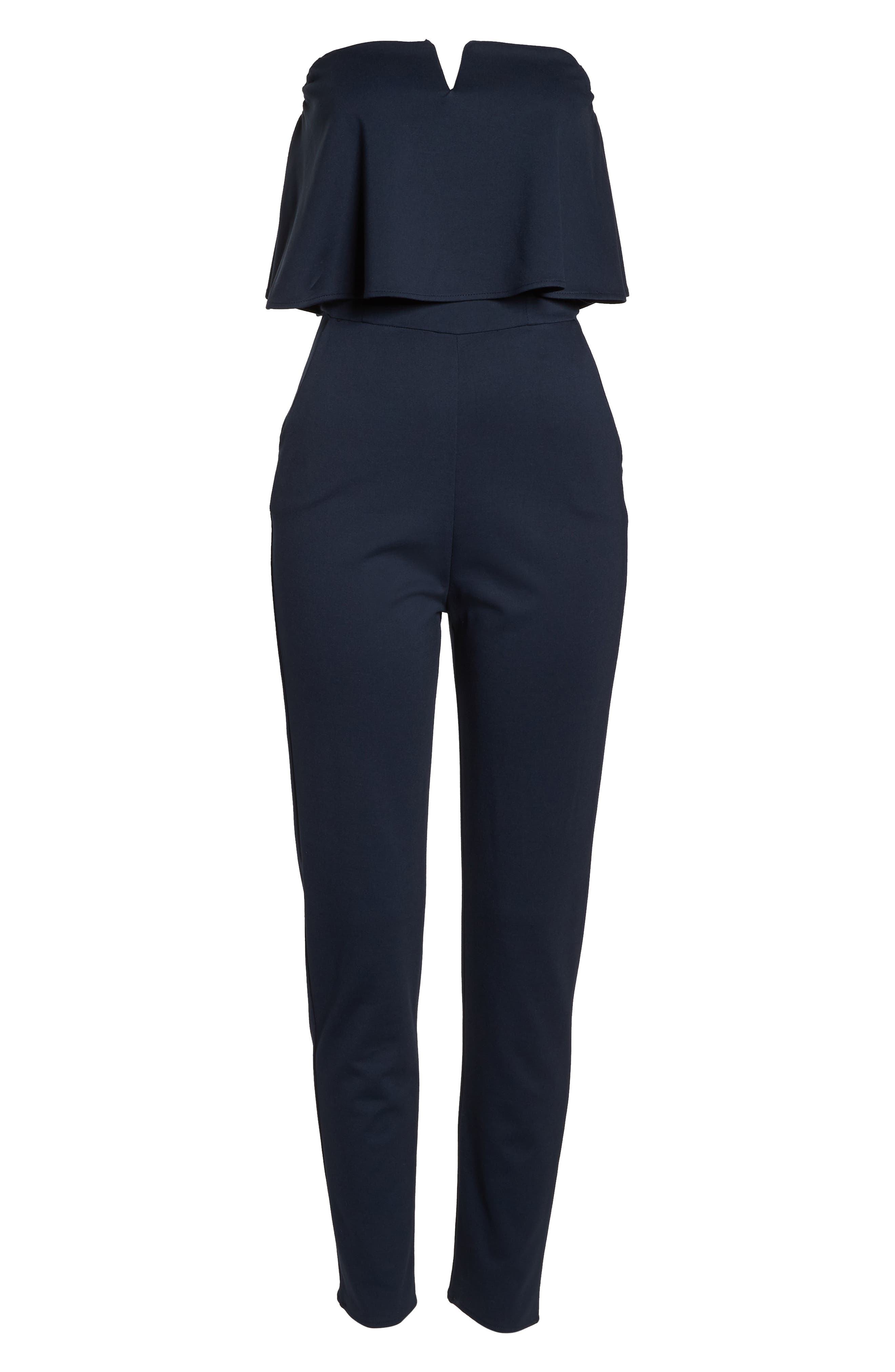 Strapless Jumpsuit,                             Alternate thumbnail 7, color,                             NAVY